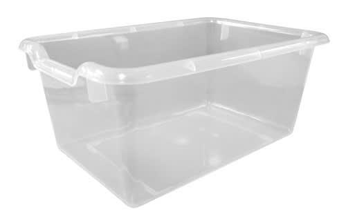 "ECR4Kids® Scoop Front Storage Bins, 8""H x 12""W x 6""D, Clear, Pack Of 10"
