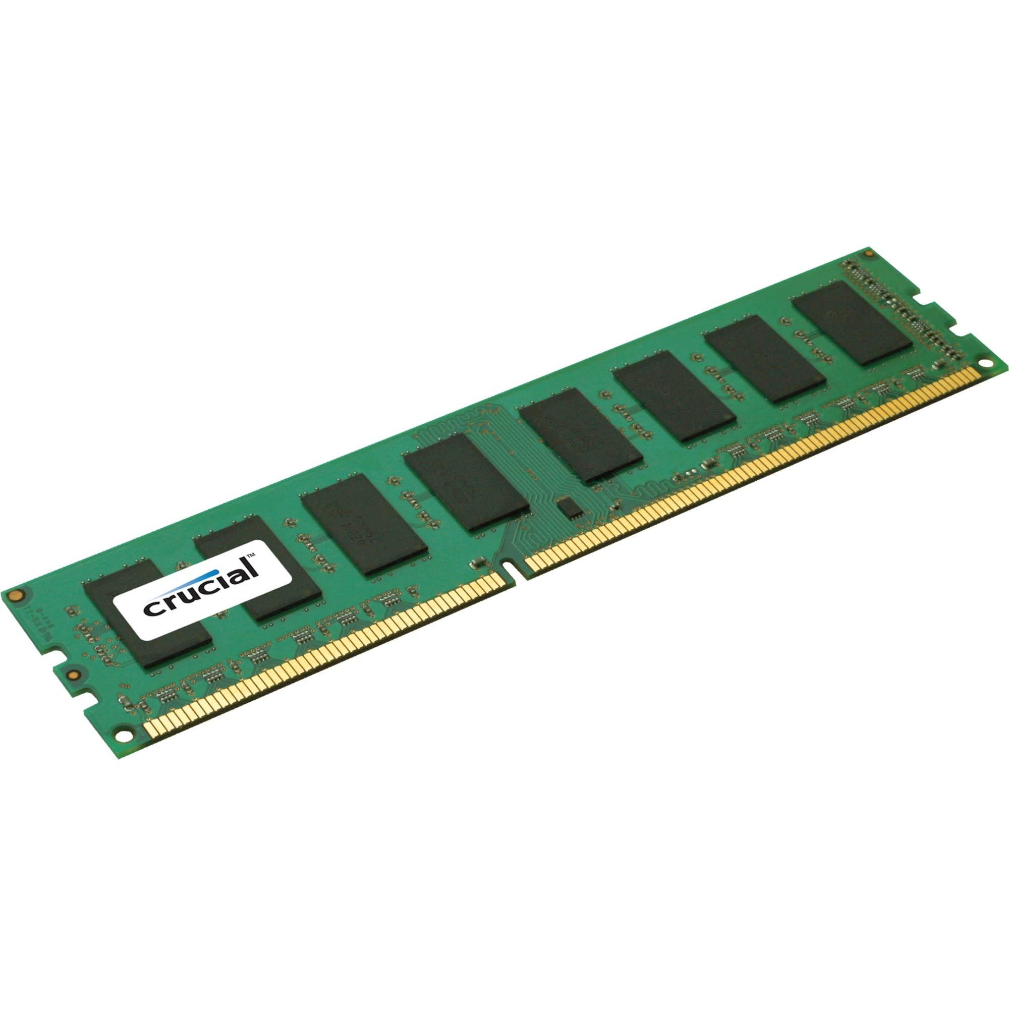 Crucial 8GB DDR3 SDRAM Memory Module - For Server - 8 GB - DDR3-1600/PC3-12800 DDR3 SDRAM - CL11 - ECC - Unbuffered - 240-pin - DIMM