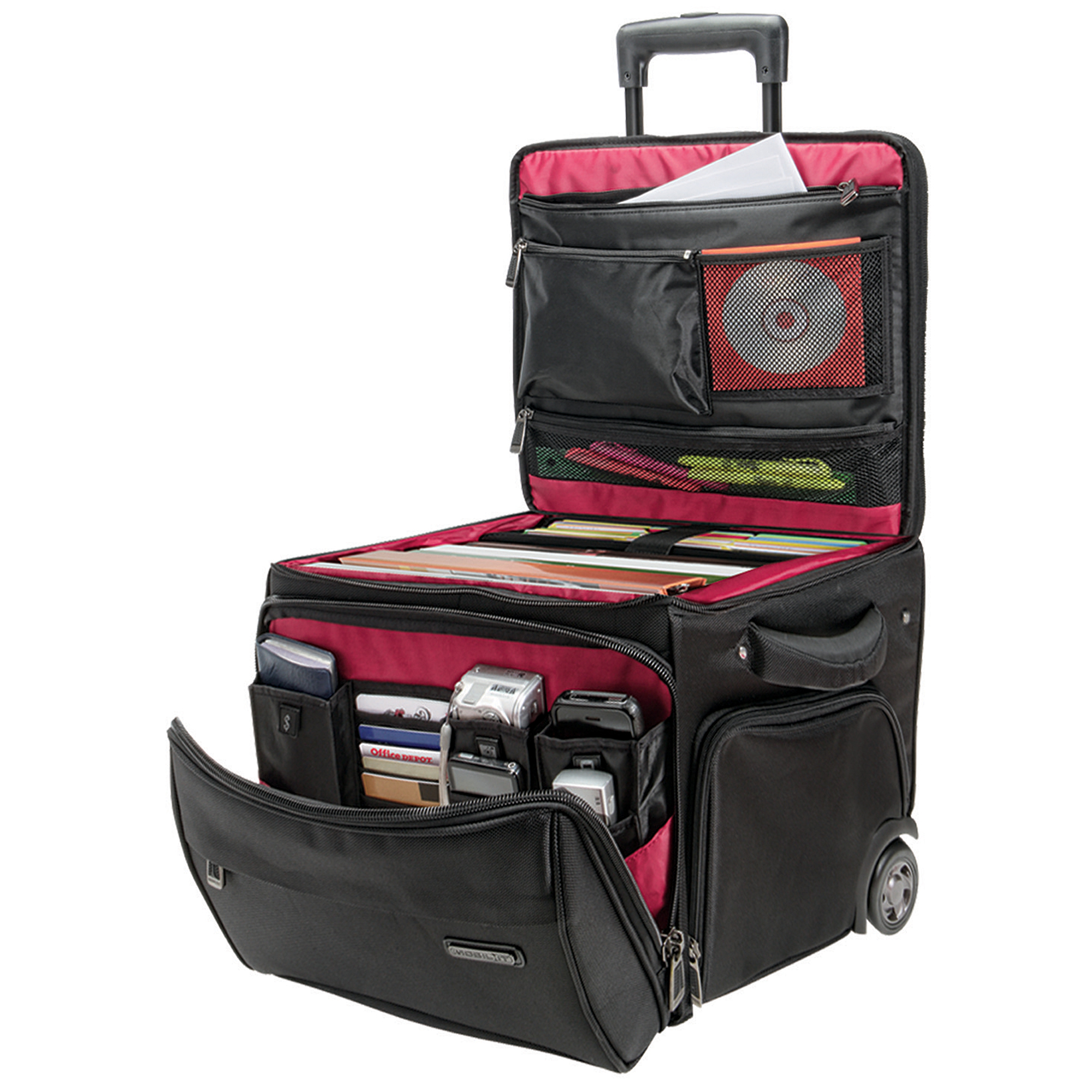 """Ativa™ Mobil-IT Rolling Briefcase Ultimate Workmate, 14""""H x 14.25""""W x 14.25""""D, Black"""