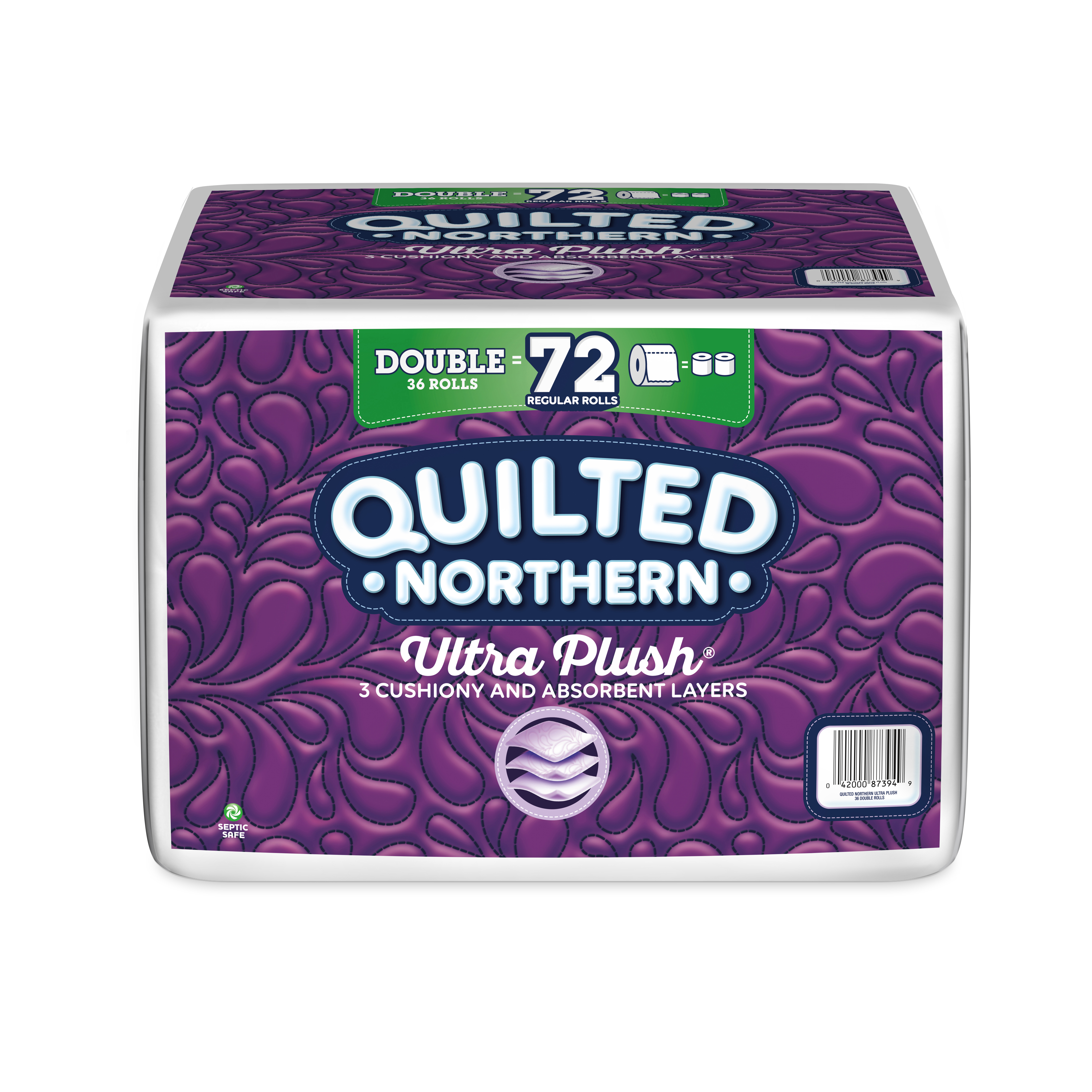 Quilted Northern® Ultra Plush 3-Ply Toilet Paper, 154 Sheets Per Roll, Pack Of 36 Double Rolls