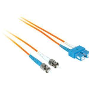 C2G-8m SC-ST 50/125 OM2 Duplex Multimode Fiber Optic Cable (Plenum-Rated) - Orange - Fiber Optic for Network Device - SC Male - ST Male - 50/125 - Duplex Multimode - OM2 - Plenum-Rated - 8m - Orange