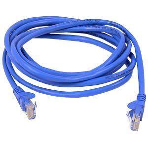 Belkin Cat. 5e UTP Crossover Cable - RJ-45 Male - RJ-45 Male - 25ft - Blue