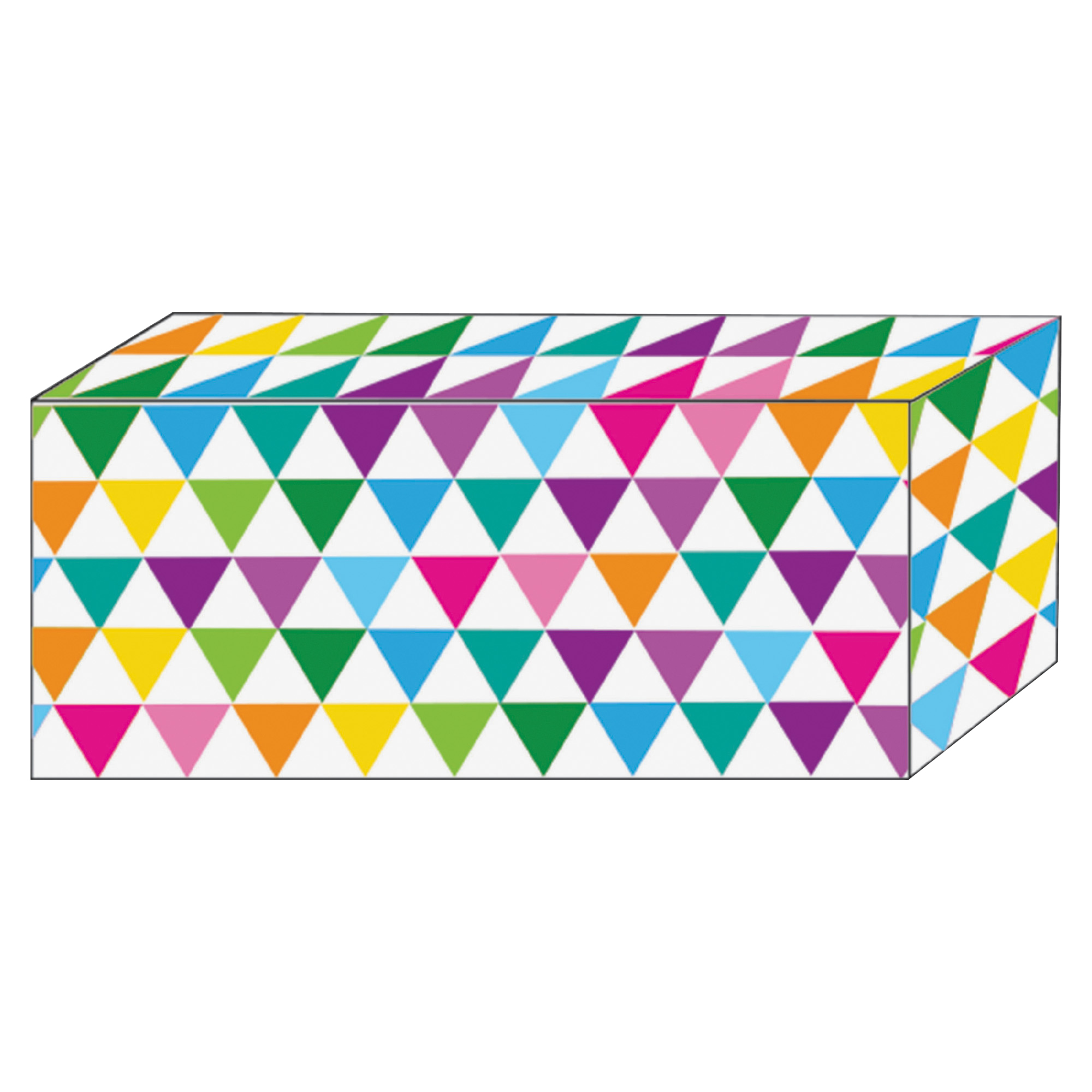 Ashley Color Triangle Design Magnetic Blocks - Heavy Duty - 5 / Pack - Multicolor