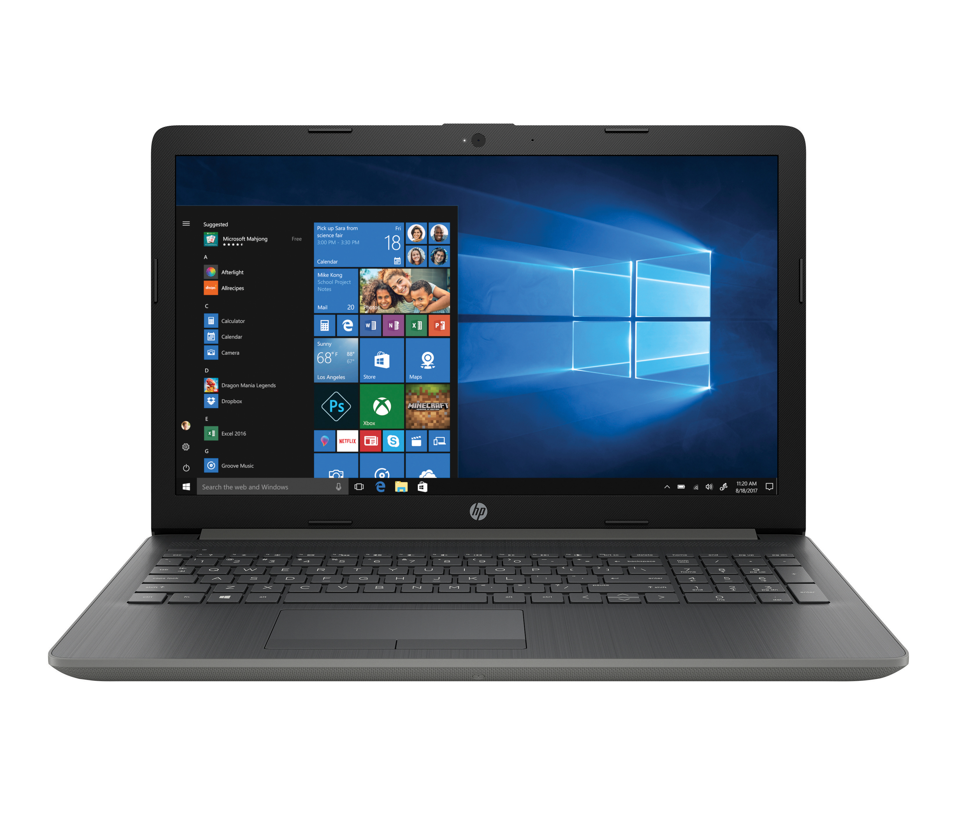 "HP 15-da0056od Laptop, 15.6"" Screen, 8th Gen Intel® Core™ i7, 4GB Memory/16GB Intel® Optane™ Memory, 1TB Hard Drive, Windows® 10 Home, Demo"