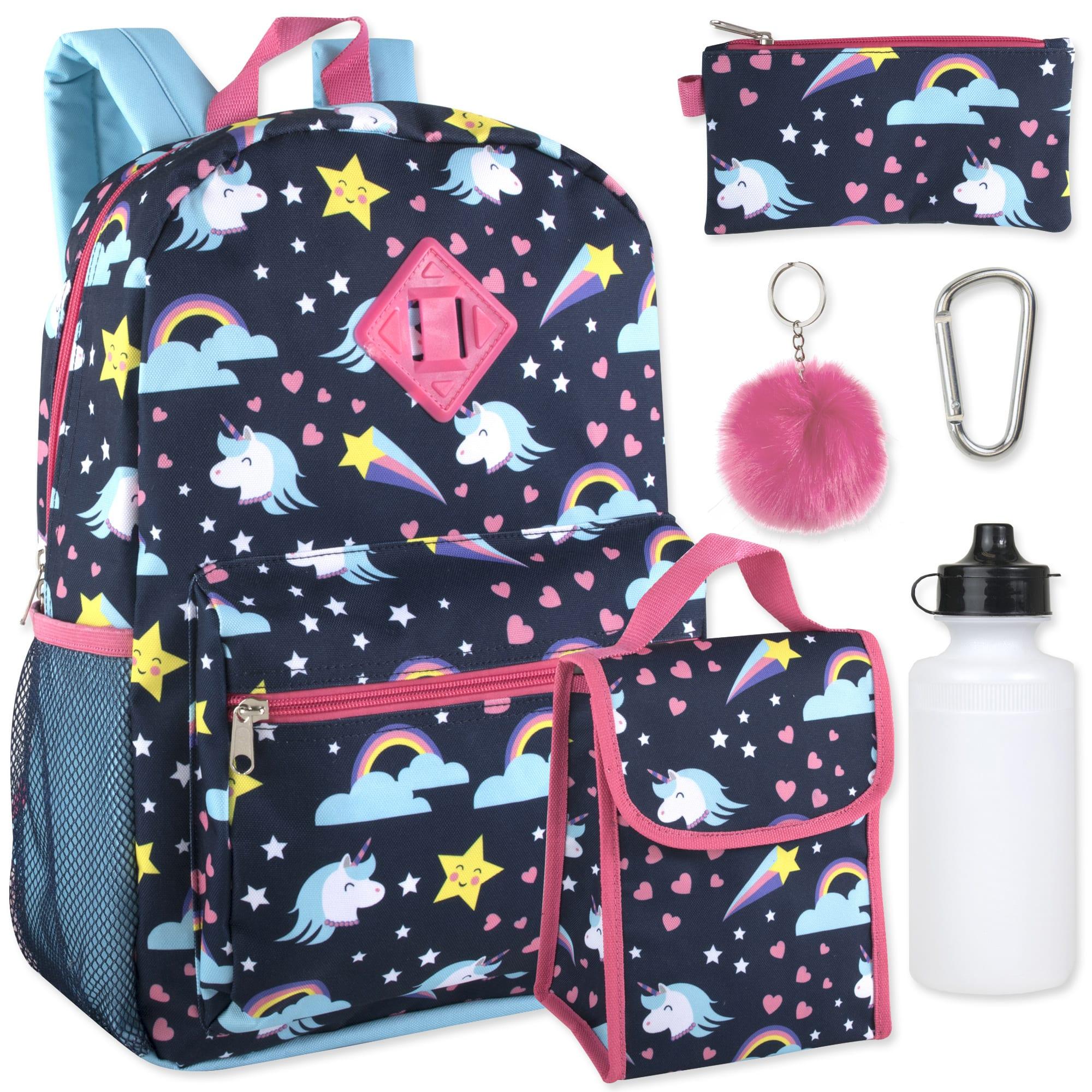 Trailmaker 6-In-1 Backpack Set, Unicorns, Blue
