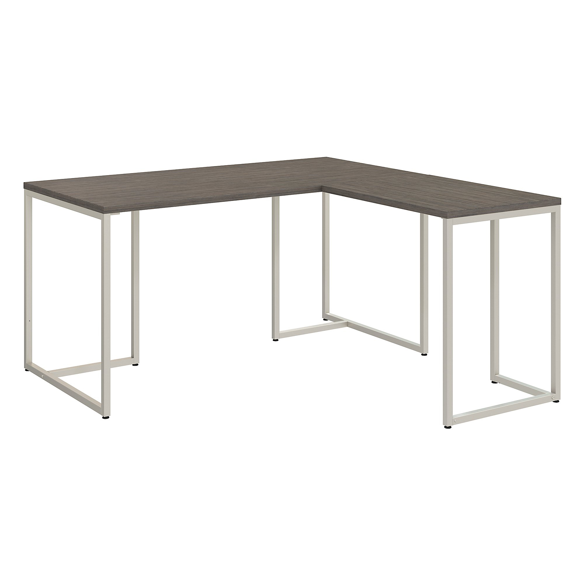 "kathy ireland® Office by Bush Business Furniture Method 60""W L Shaped Desk with 30""W Return, Cocoa, Premium Installation"