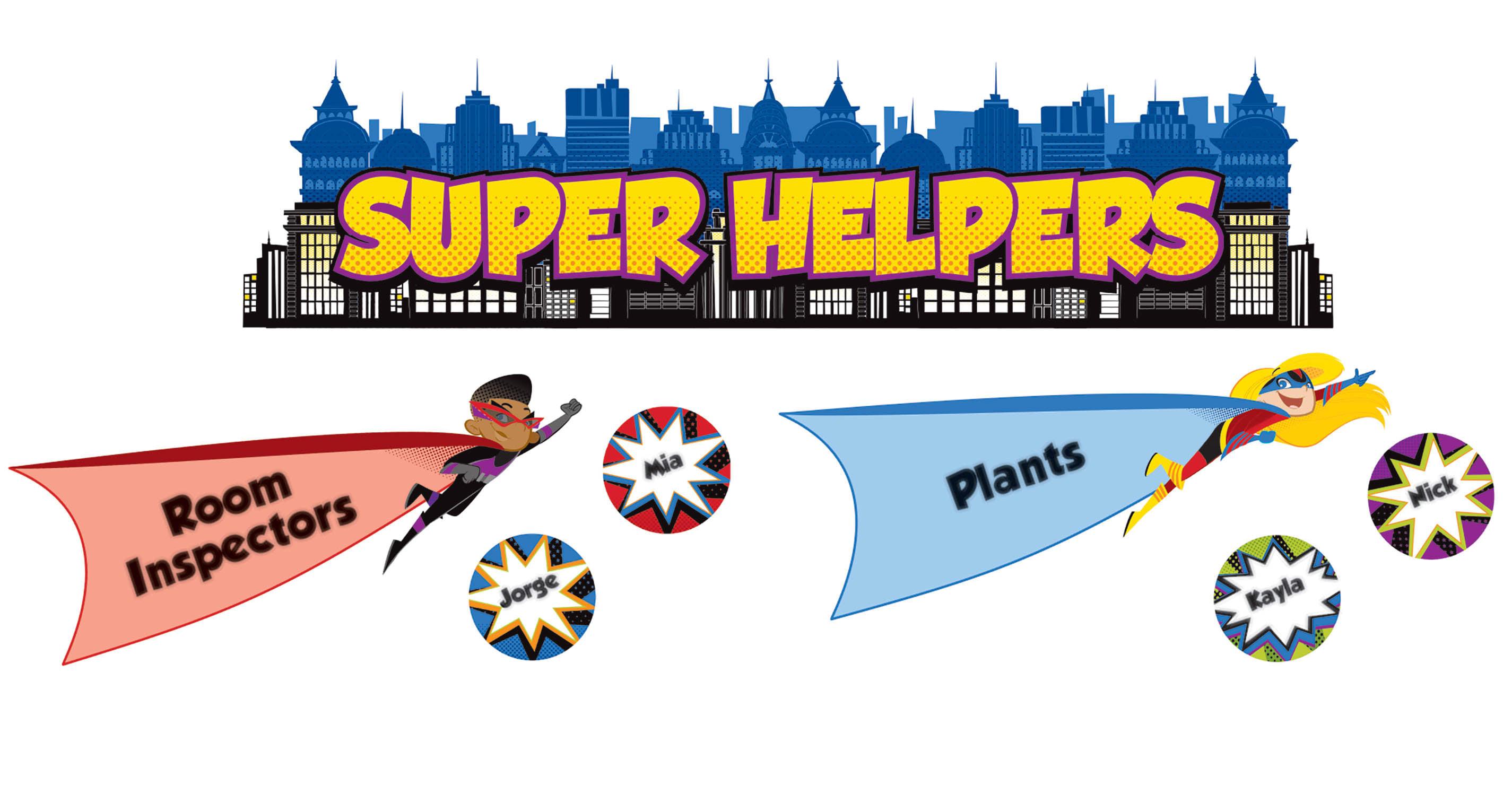 Carson-Dellosa Super Power Super Helpers Mini Bulletin Board Set, Multicolor, Grades K-5