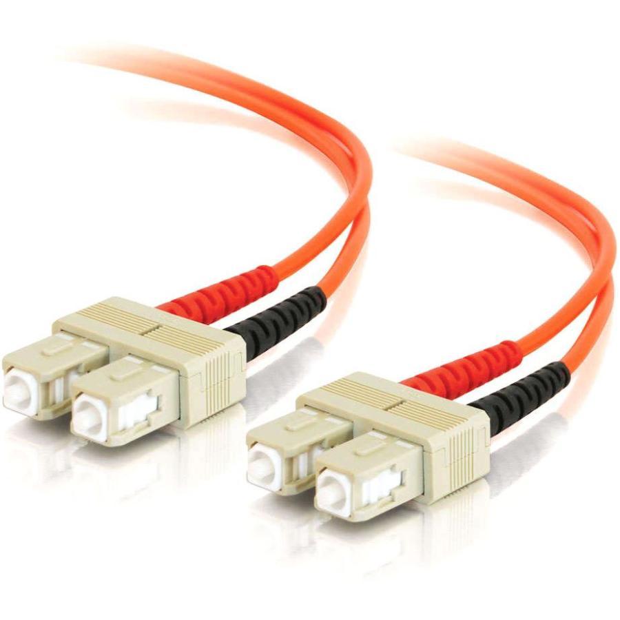 C2G-30m SC-SC 50/125 OM2 Duplex Multimode PVC Fiber Optic Cable (LSZH) - Orange - Fiber Optic for Network Device - SC Male - SC Male - 50/125 - Duplex Multimode - OM2 - LSZH - 30m - Orange
