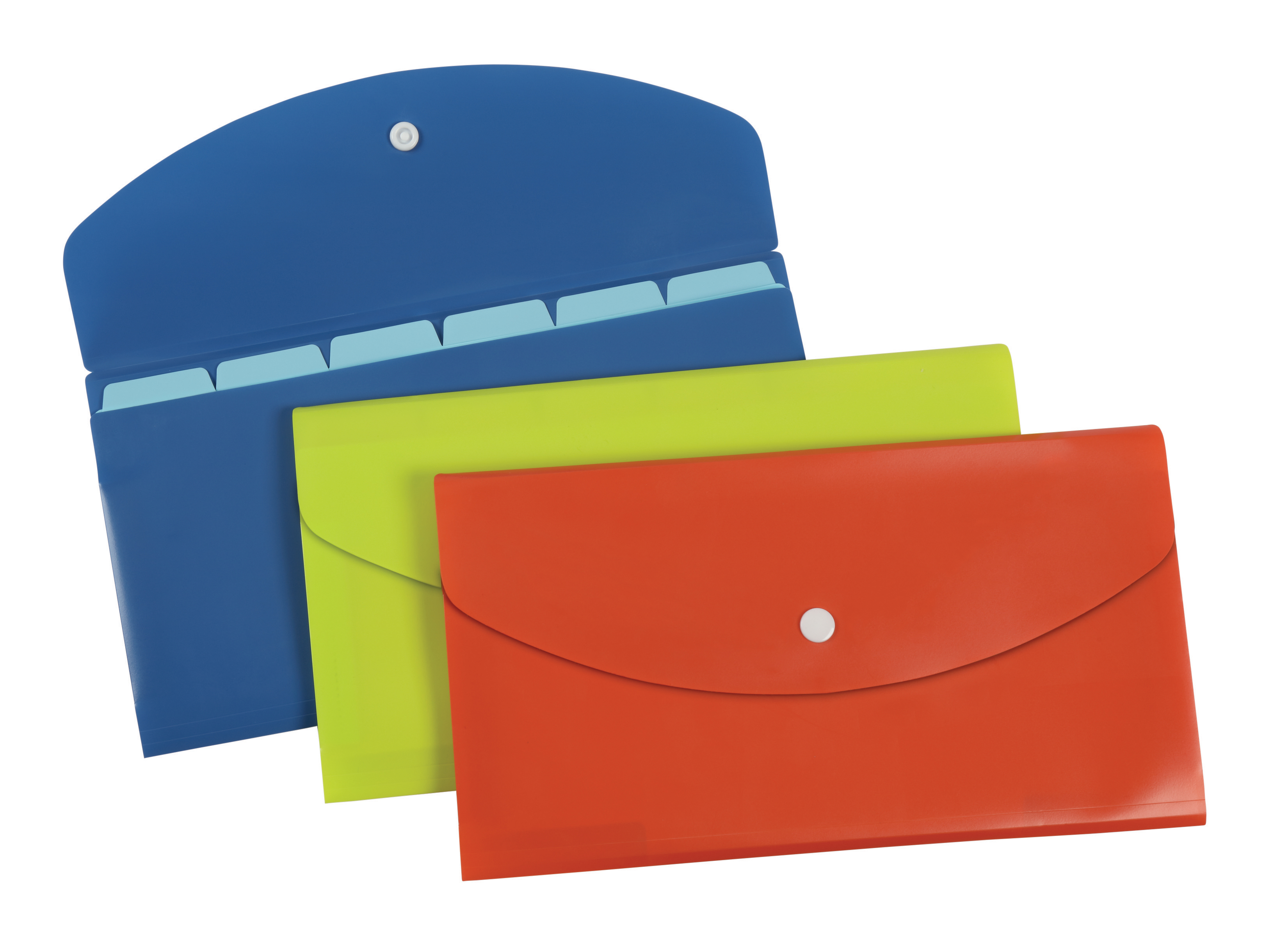 Pendaflex® Slimline 7-Pocket File, Check Size, Assorted Colors