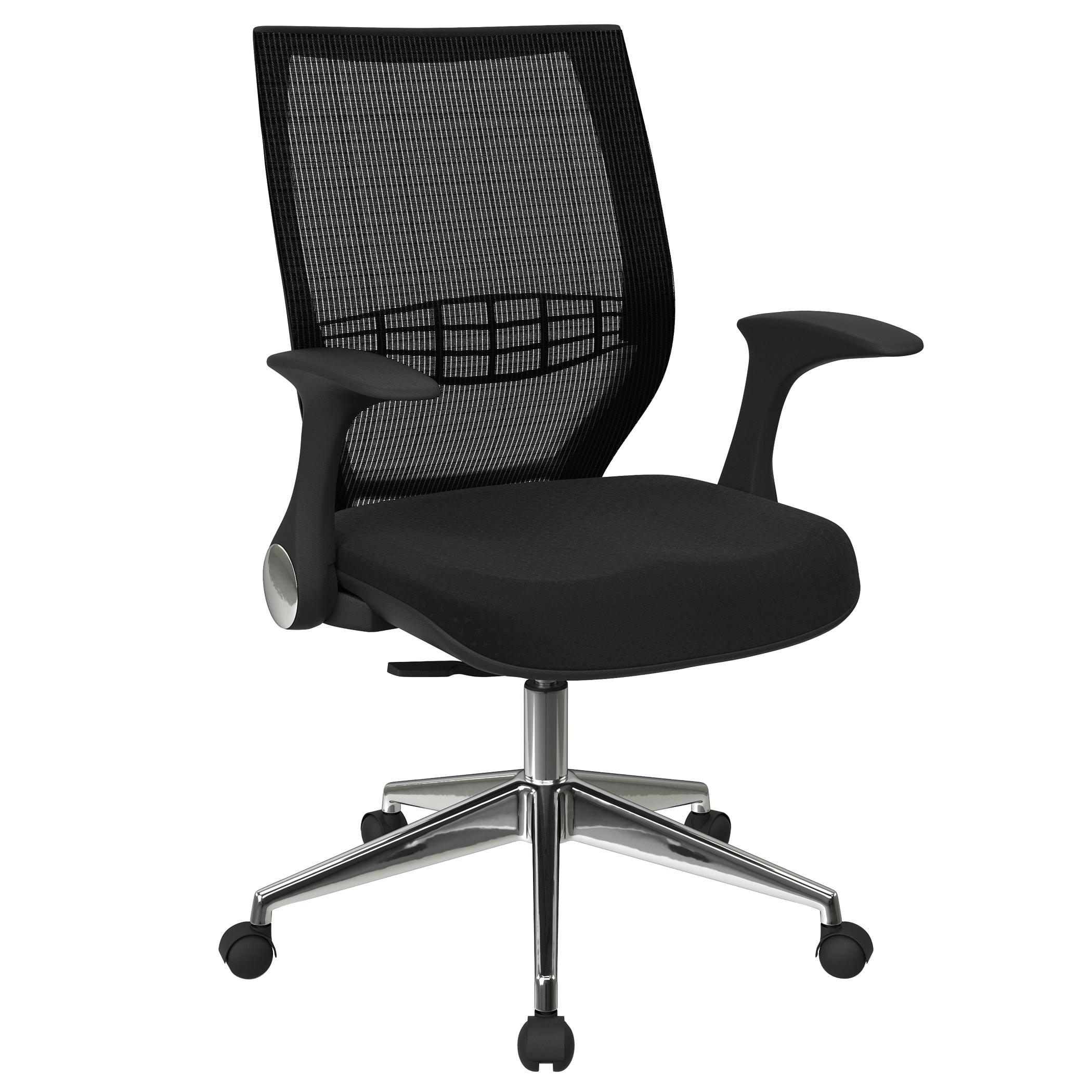 Office Star™ Pro-Line II ProGrid Fabric High-Back Chair, Midnight Black/Ebony/Black/Silver