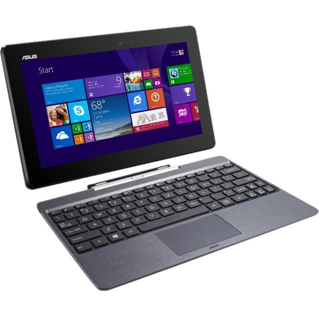 """Asus Transformer Book T100TA-C2-EDU 10.1"""" Touchscreen (In-plane Switching (IPS) Technology) 2 in 1 Netbook - Intel Atom Z3740 Quad-core (4 Core) 1.33 GHz - Hybrid - Gray"""