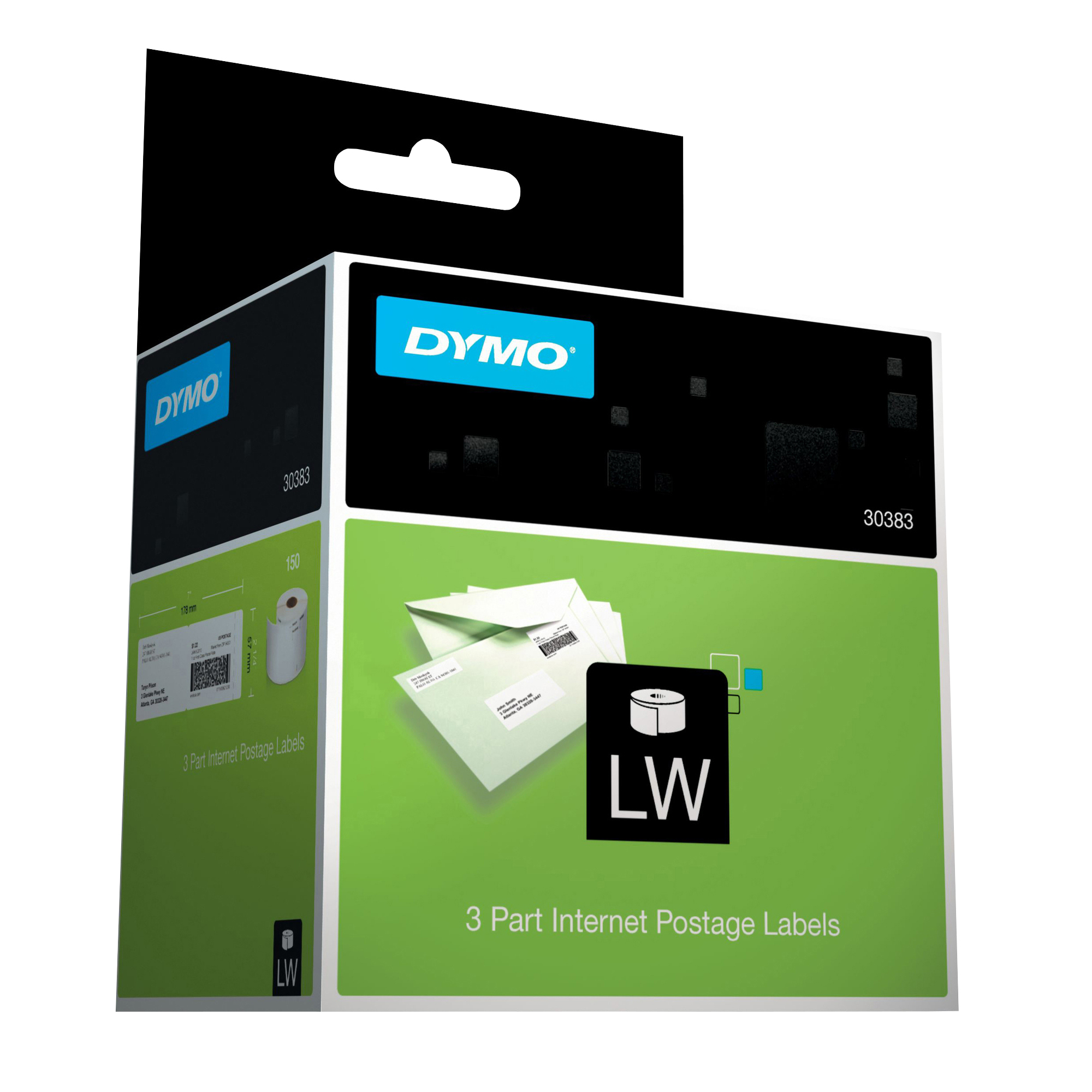 DYMO® LabelWriter® 30383 Internet Postage Label, 3-Part, For All Mailings, Box Of 150