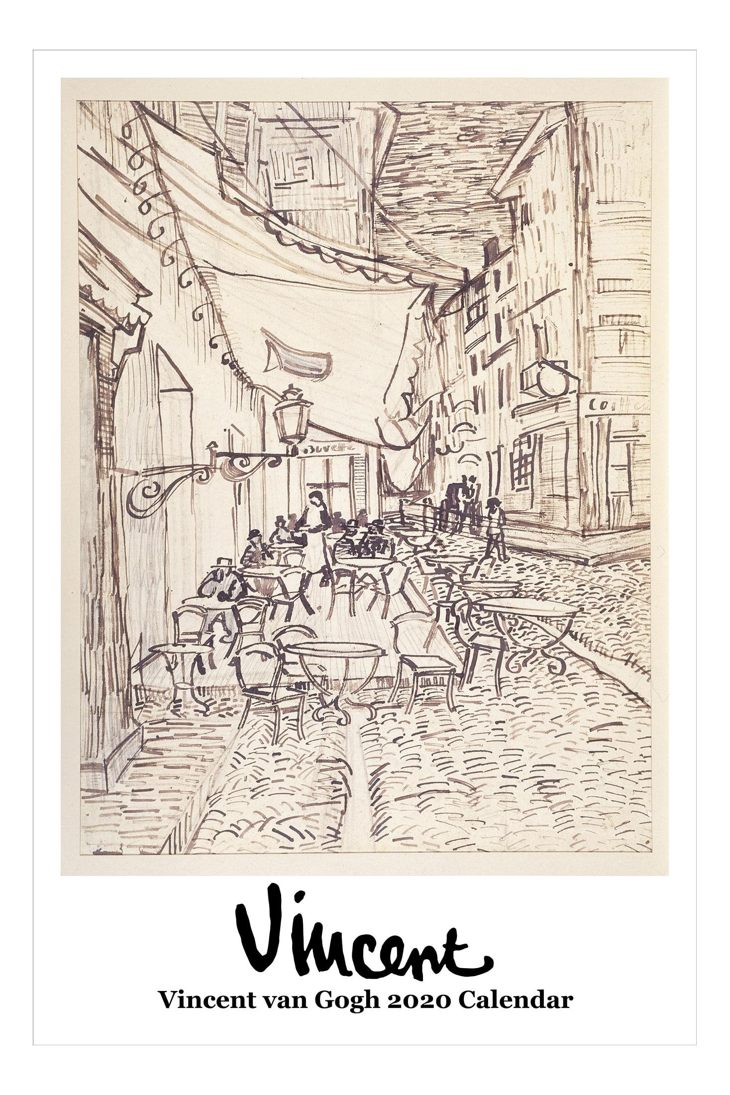 "Retrospect Vincent van Gogh Monthly Wall Calendar, 19"" X 12-1/2"", January To December 2020, YC 001-20"