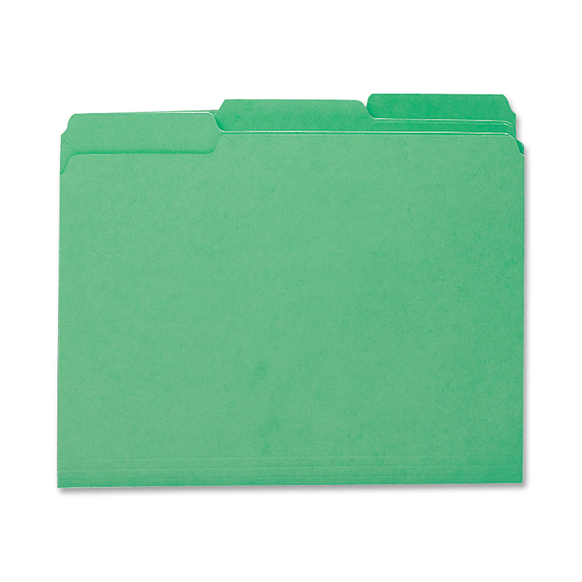 Smead® 1/3-Cut Interior Folders, Letter Size, Green, Box Of 100