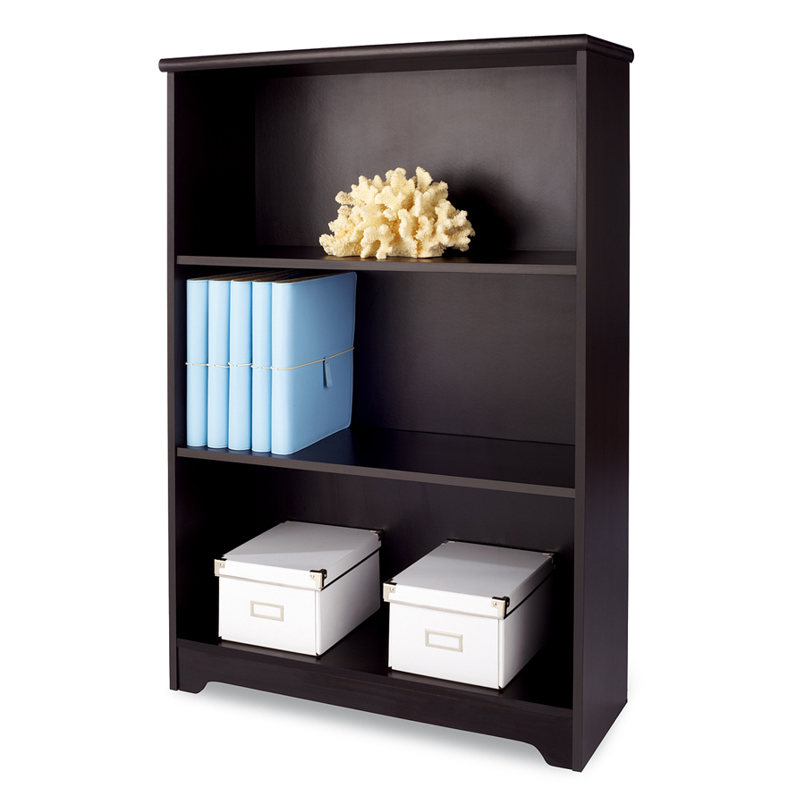 Realspace® Magellan Collection 3-Shelf Bookcase, Espresso