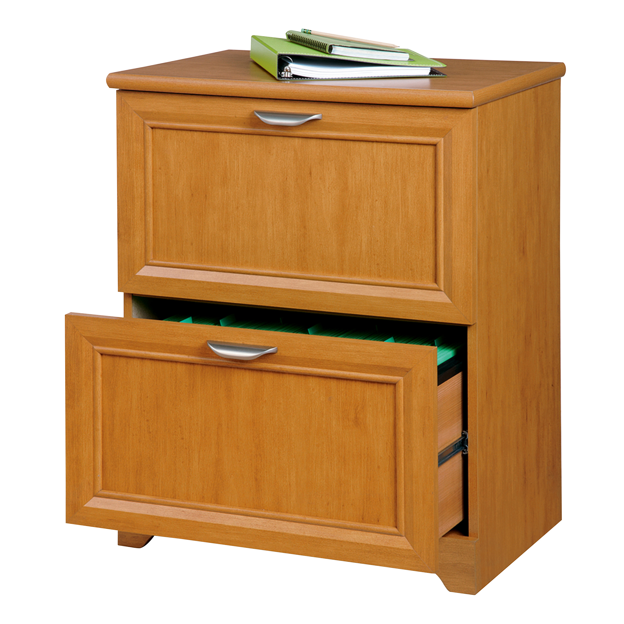 """Realspace® Magellan 24""""W Lateral 2-Drawer File Cabinet, Honey Maple"""