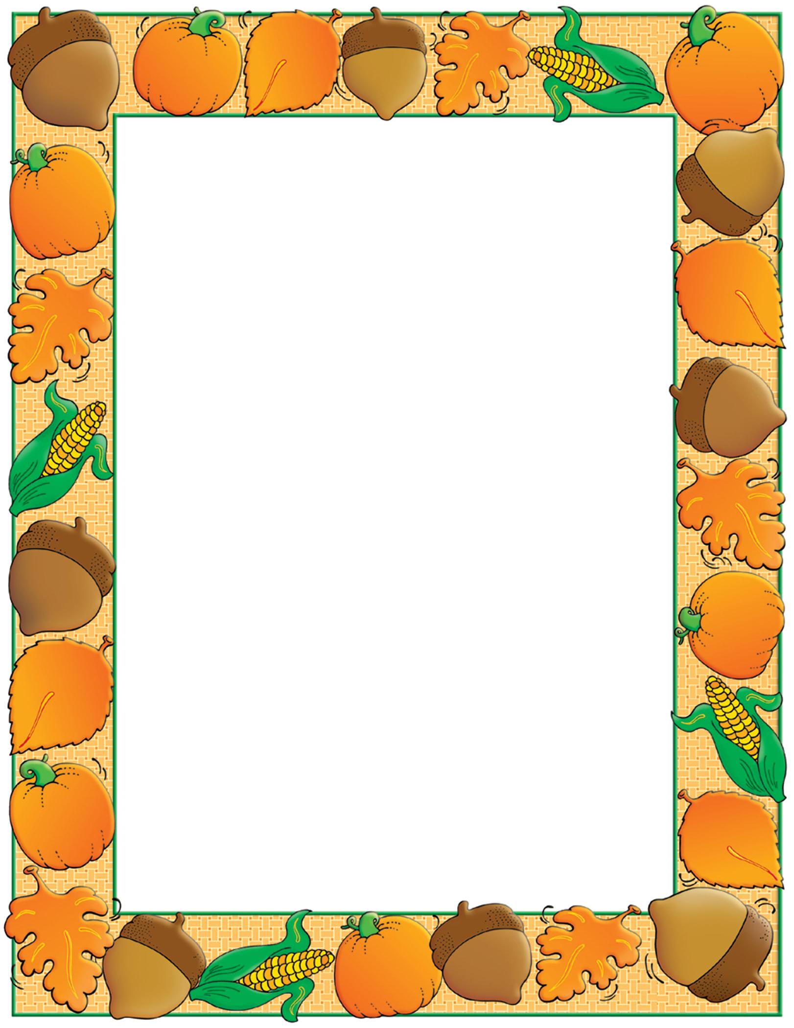 "Scholastic Colorful Design Paper, Autumn Harvest, 8 1/2"" x 11"", Pack Of 50"