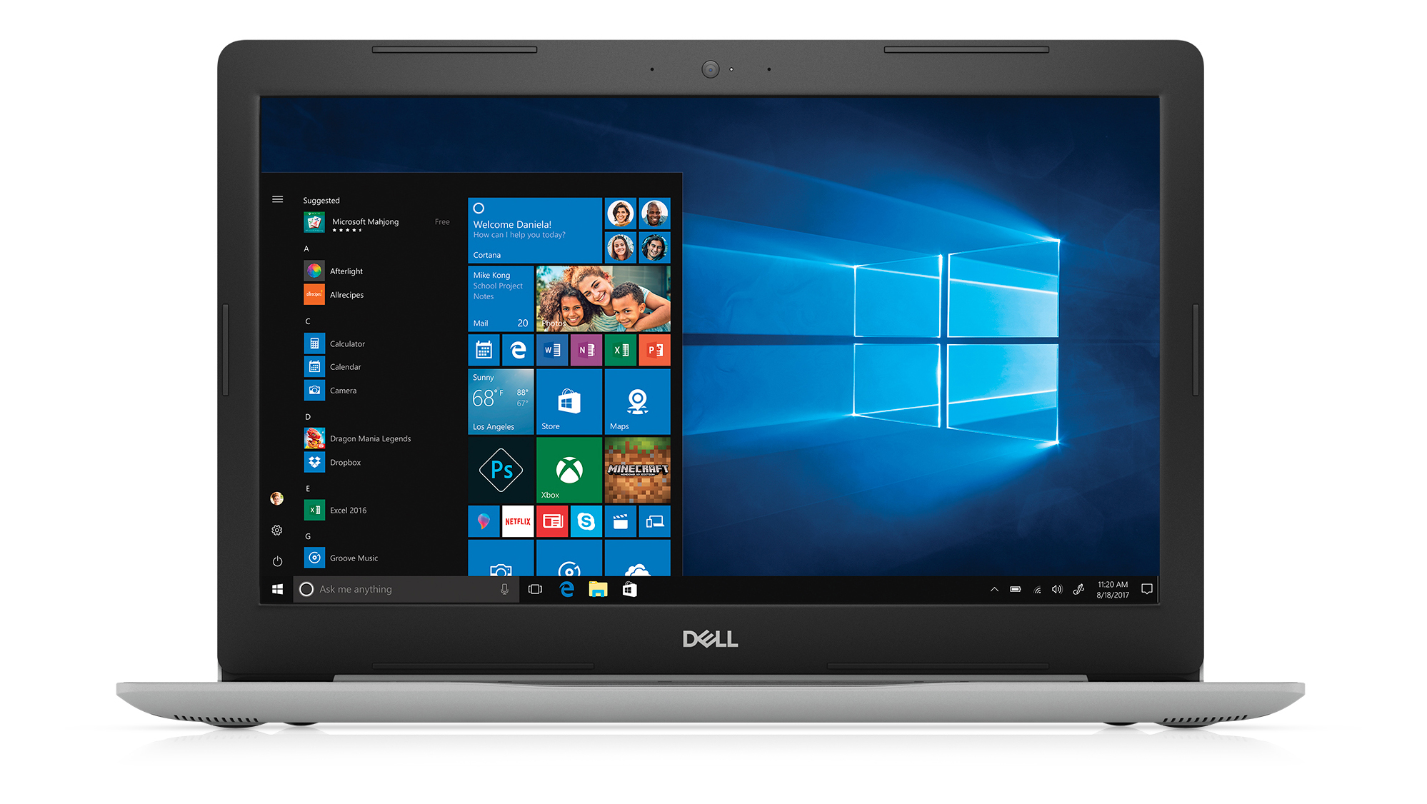 "Dell™ Inspiron 15 5570 Laptop, 15.6"" Screen, 8th Gen Intel® Core™ i7, 8GB Memory, 1TB Hard Drive/128GB Solid State Drive, Windows® 10 Home"