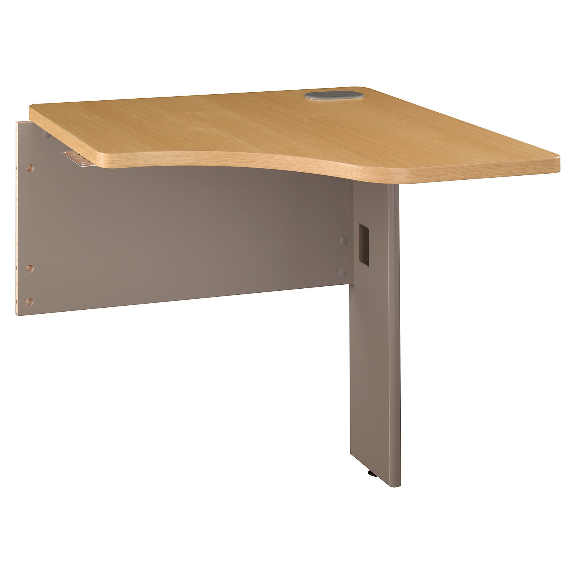 "Bush Business Furniture Office Advantage Transitional Bridge, 30""W, Light Oak, Premium Installation"