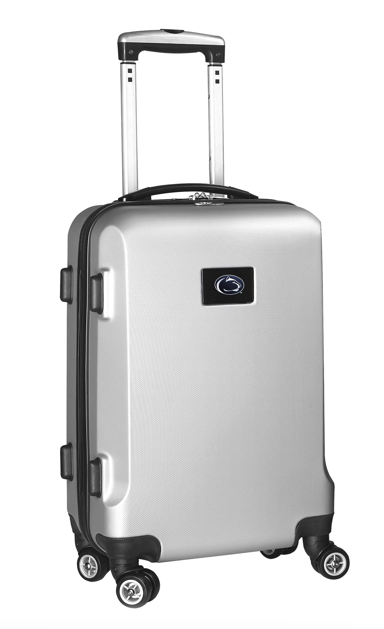 "Denco Sports Luggage Rolling Carry-On Hard Case, 20"" x 9"" x 13 1/2"", Silver, Penn State Nittany Lions"