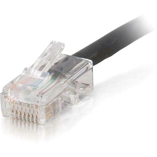C2G 35ft Cat5e Non-Booted Unshielded (UTP) Network Patch Cable (Plenum Rated) - Black - Category 5e for Network Device - RJ-45 Male - RJ-45 Male - Plenum-Rated - 35ft - Black