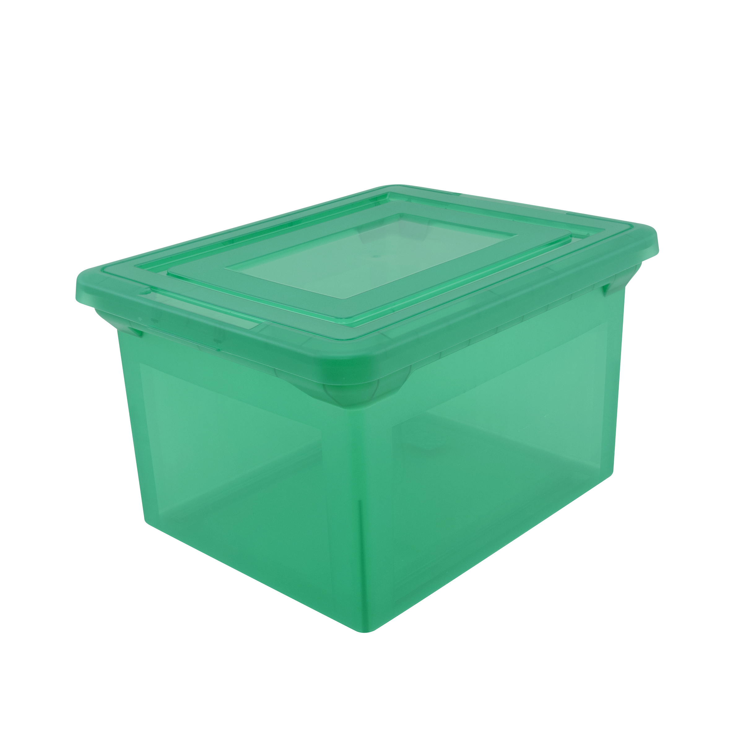 """Office Depot® Brand Letter And Legal File Tote, 18""""L x 14 1/4""""W x 10 7/8""""H, Spring Green"""