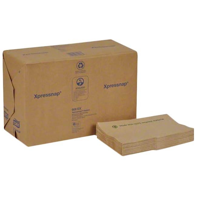 "Tork Universal Xpressnap® Environmental Print 1-Ply Dispenser Napkins, Interfold, 4-5/16"" x 6-1/2"", Brown, Pack Of 6,000 Napkins"