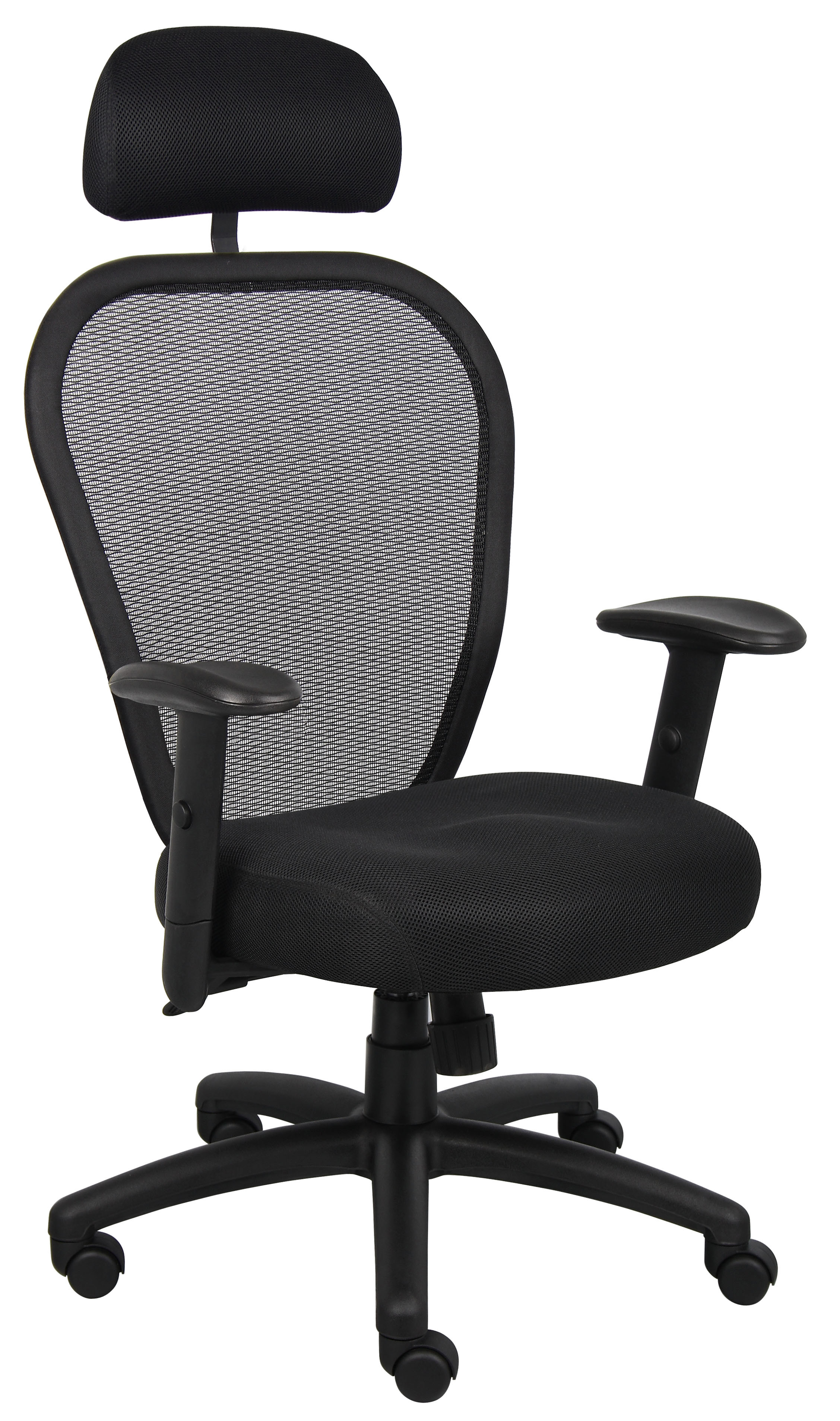 Boss Office Products Professional Mesh Task Chair, Black