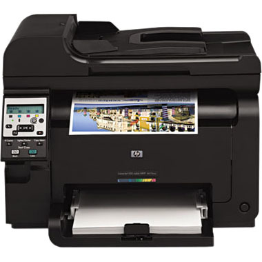 HP LaserJet Pro 100 M175NW Laser Multifunction Printer - Color - Copier/Printer/Scanner - 17 ppm Mono/4 ppm Color Print - 600 x 600 dpi Print - Manual Duplex Print - 1200 dpi Optical Scan - 150 sheets Input - Fast Ethernet - Wireless LAN