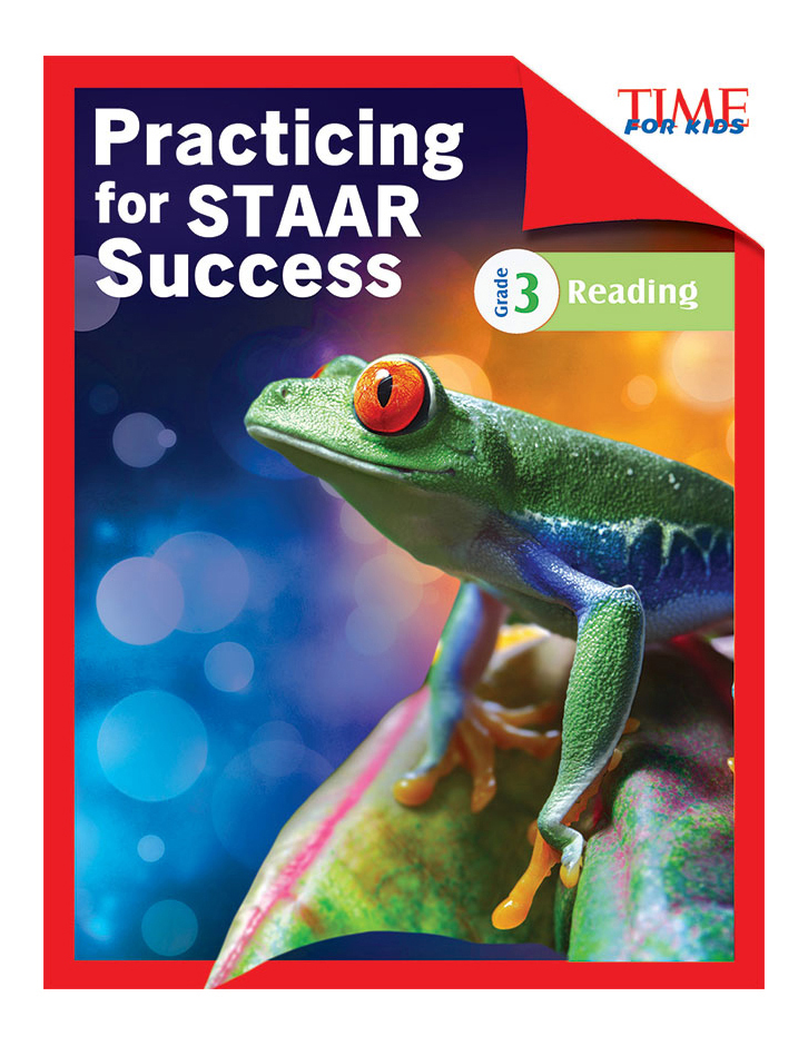 Shell Education TIME For Kids Practicing For STAAR Success: Reading, Level 3, English, Grade 3