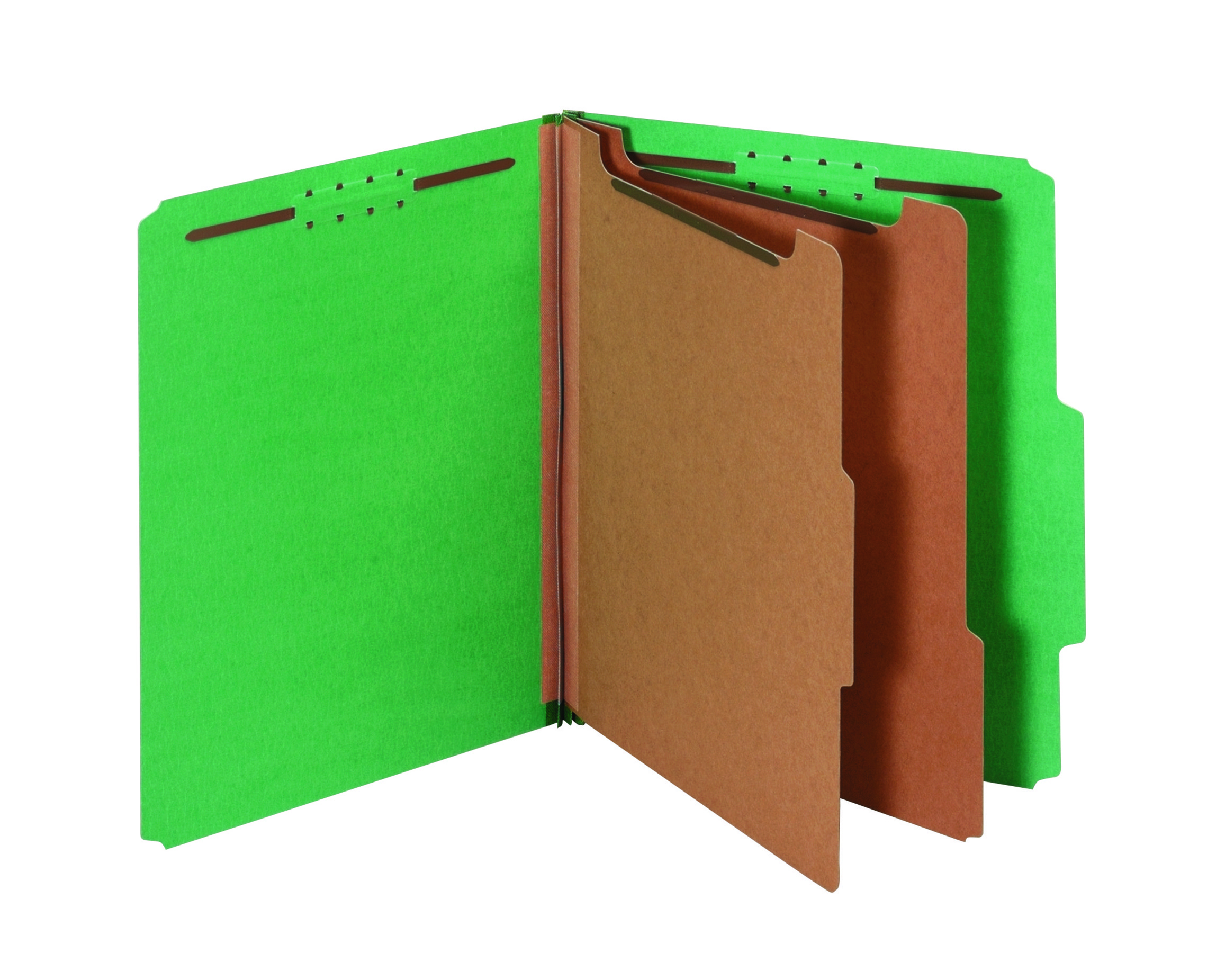 "Pendaflex® Standard Classification Folders With Fasteners, 8 1/2"" x 11"", Letter Size, 60% Recycled, Dark Green, Box Of 10"