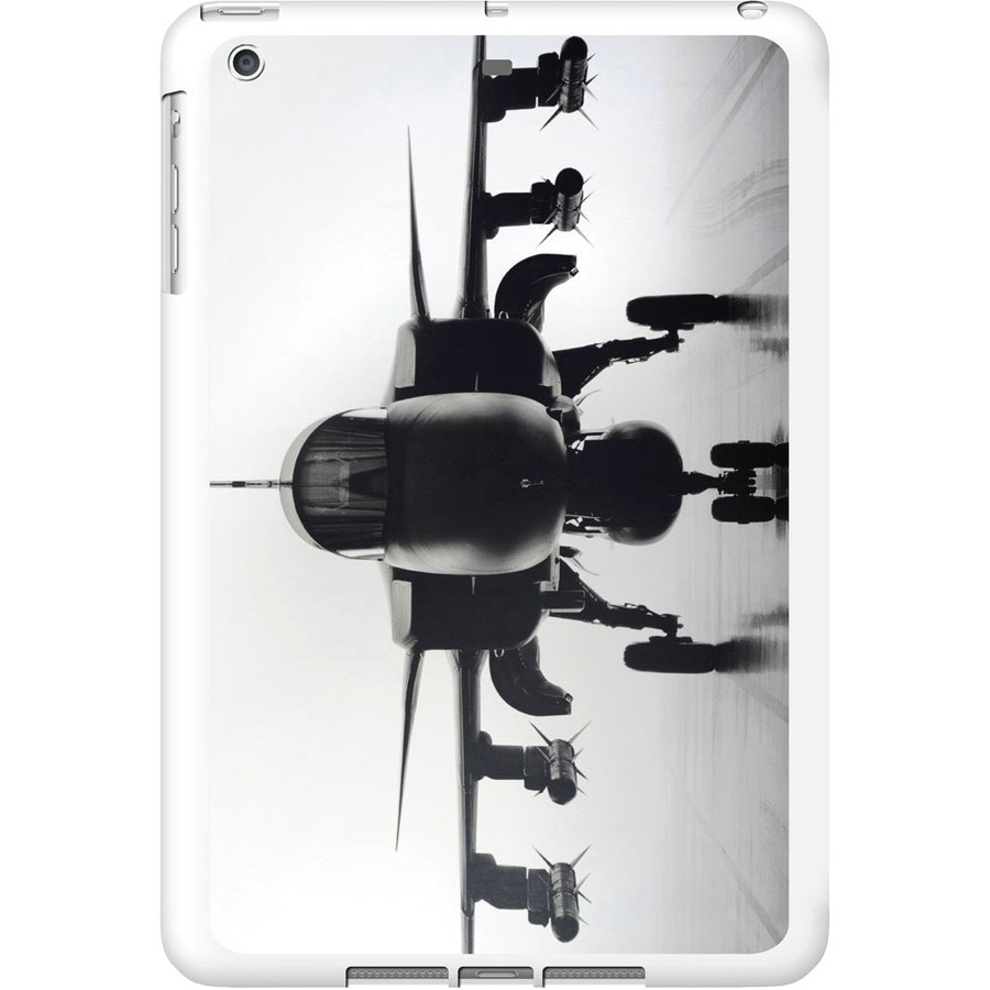 OTM iPad Air White Glossy Case Rugged Collection, Airplane - For Apple iPad Air Tablet - Airplane - White - Glossy