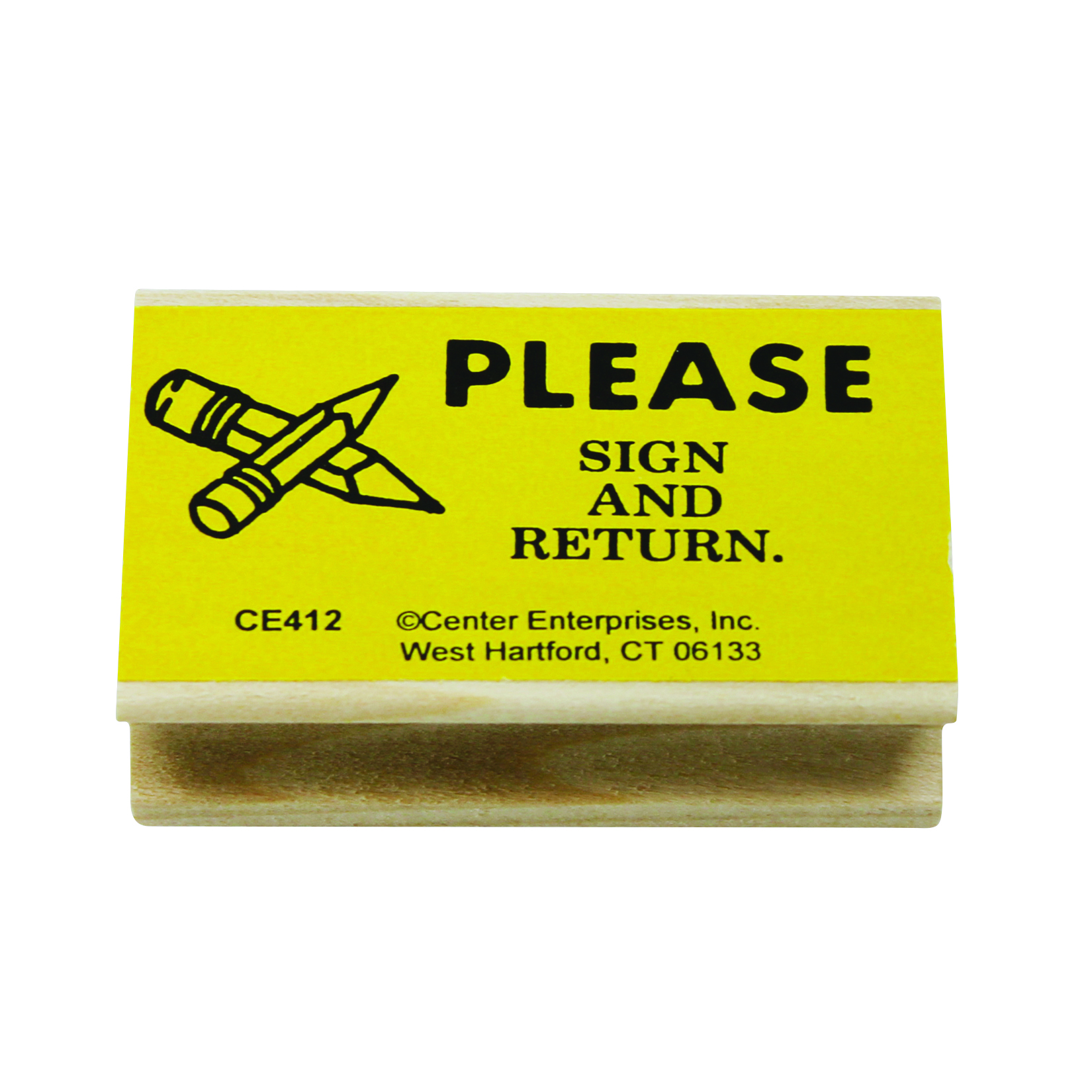 "Center Enterprise Stamps, ""Please Sign and Return"", 1 1/2'' x 2 1/2'', Pack Of 6"