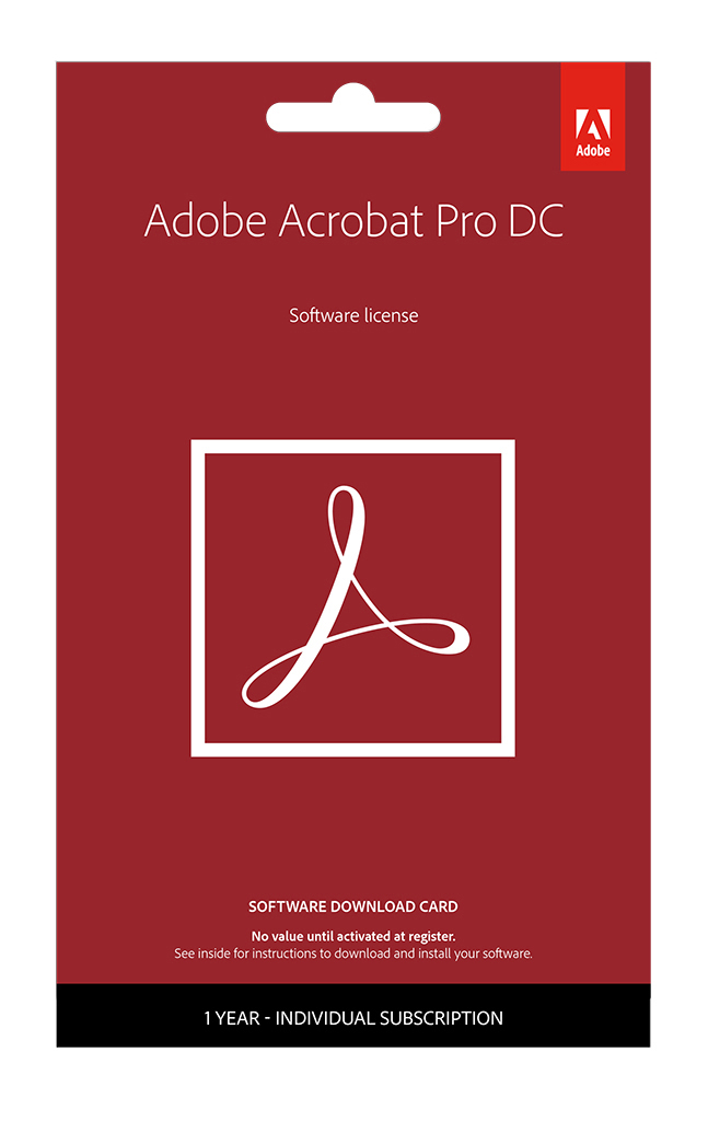 Adobe® Acrobat® Pro DC, 1-Year Subscription, For PC/Mac®, Download