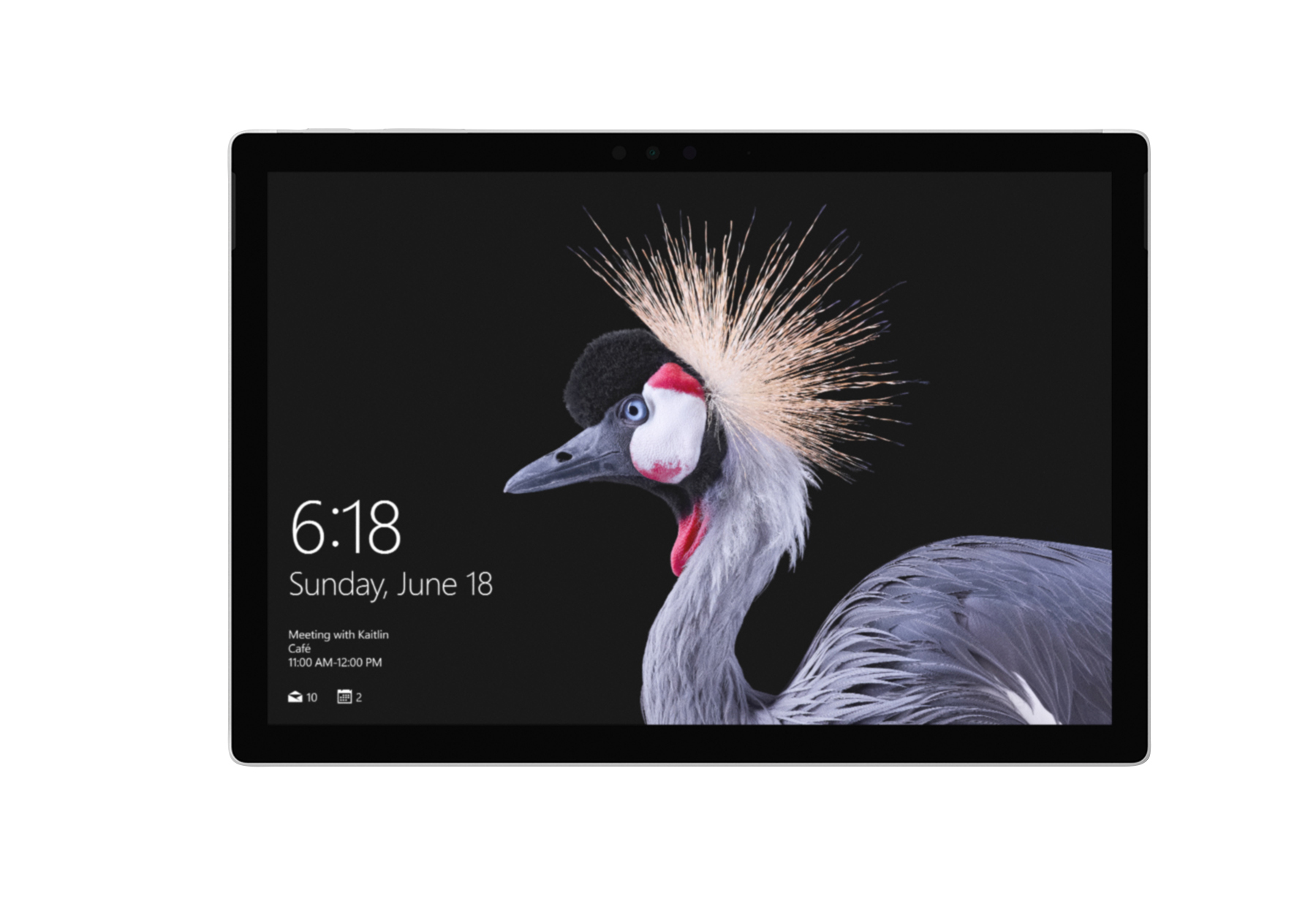 """Microsoft® Surface Pro Tablet, 12.3"""" Touch Screen, Intel® Core™ i5, 4GB Memory, 128GB Solid State Drive, Windows™ 10 Pro, Silver"""