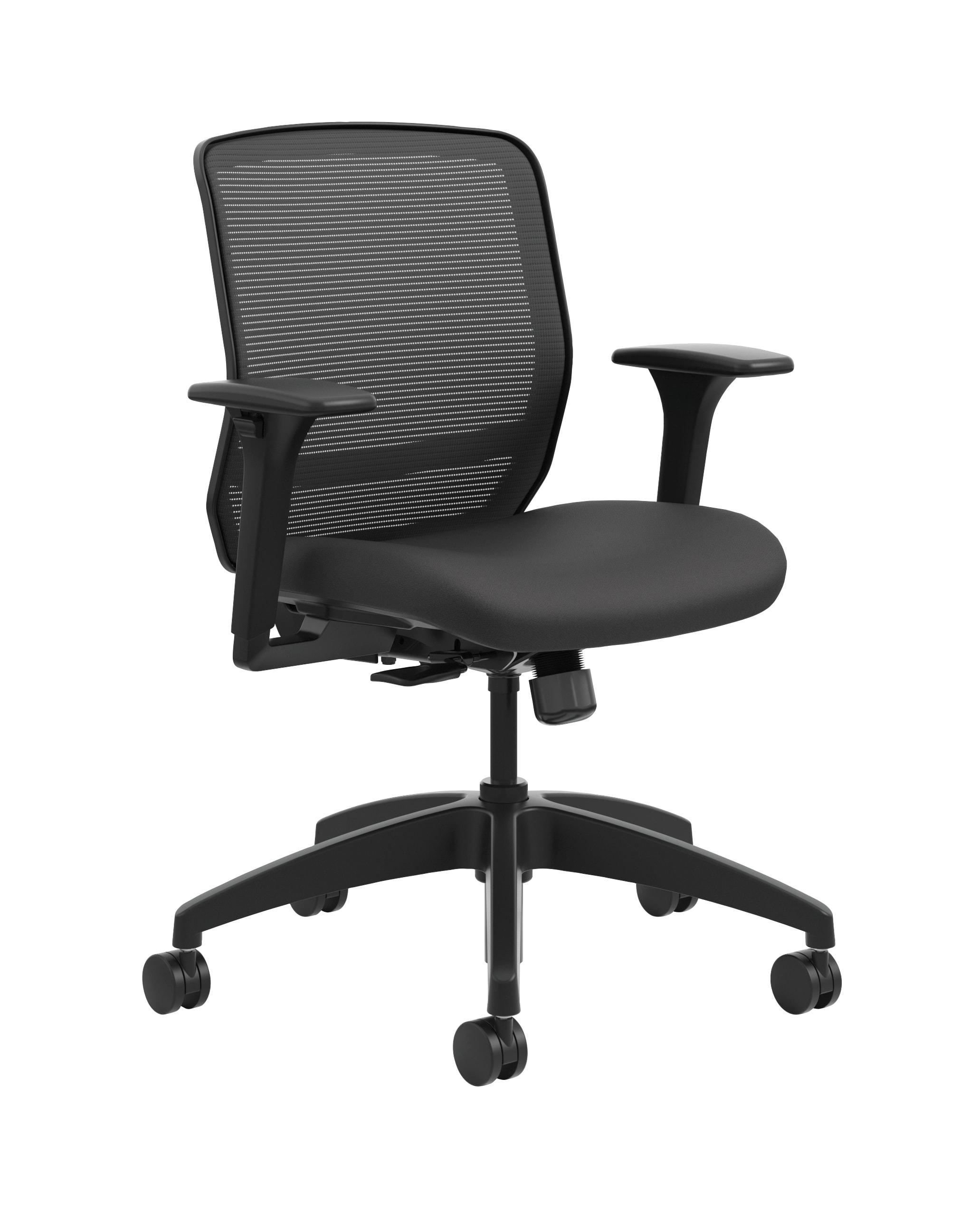 HON® Quotient Mesh Mid-Back Task Chair, Black