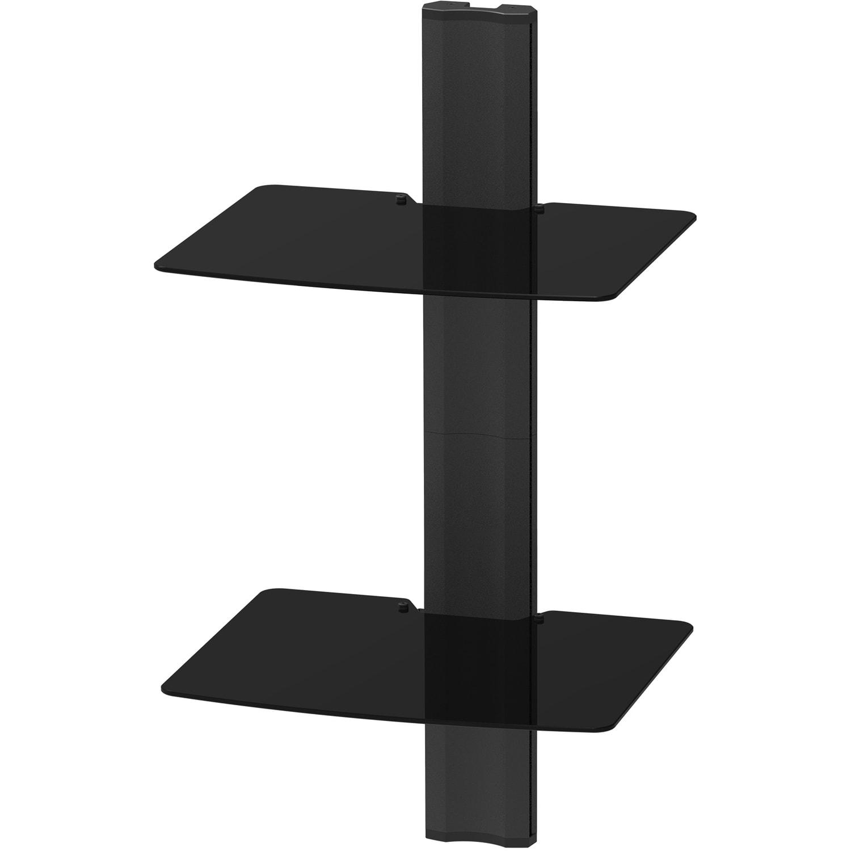 Kanto AVT2 Mounting Shelf for A/V Equipment, Gaming Console, Video Recorder - Black - 40 lb Load Capacity