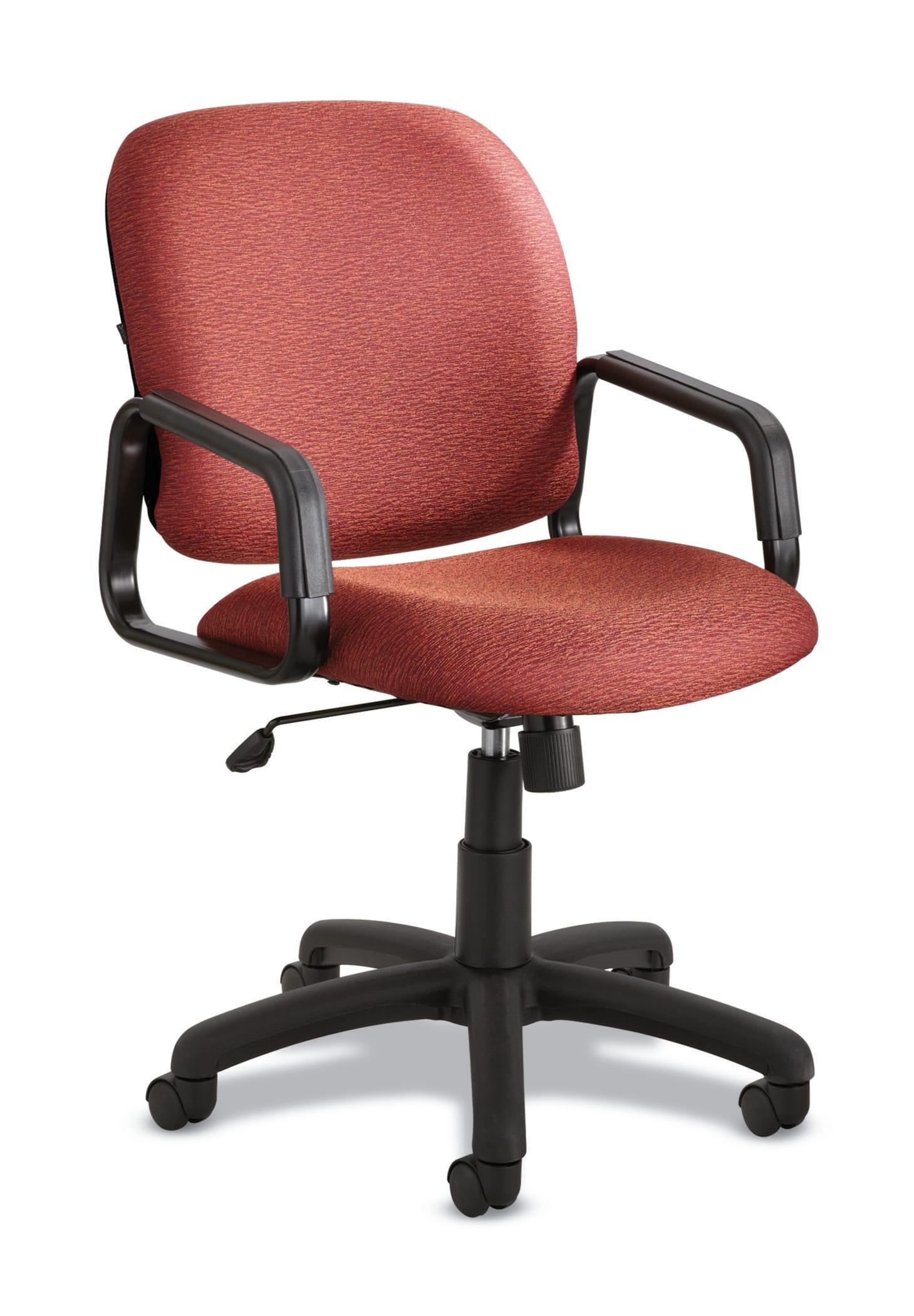 Safco® Cava Urth Fabric High-Back Chair, Burgundy