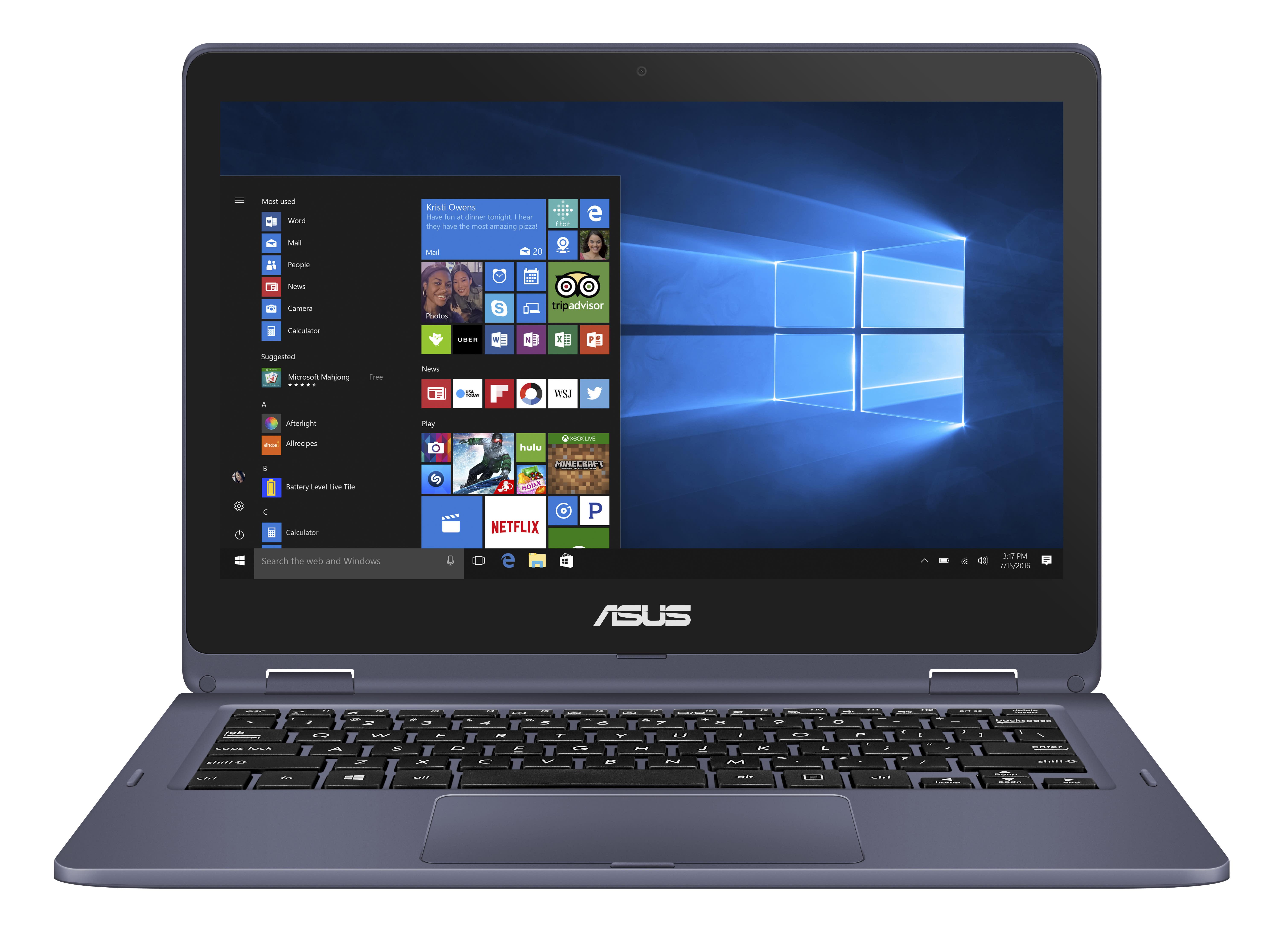 "ASUS VivoBook Flip Convertible Laptop, 11.6"" Touch Screen, 4GB Memory, 64GB eMMC Drive, Windows® 10 in S Mode, Demo"