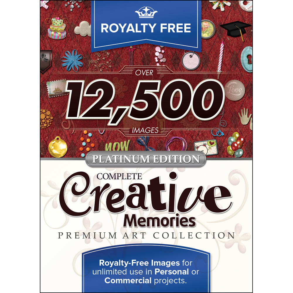 Royalty Free Complete Creative Memories Premium Art Collection, For Mac®