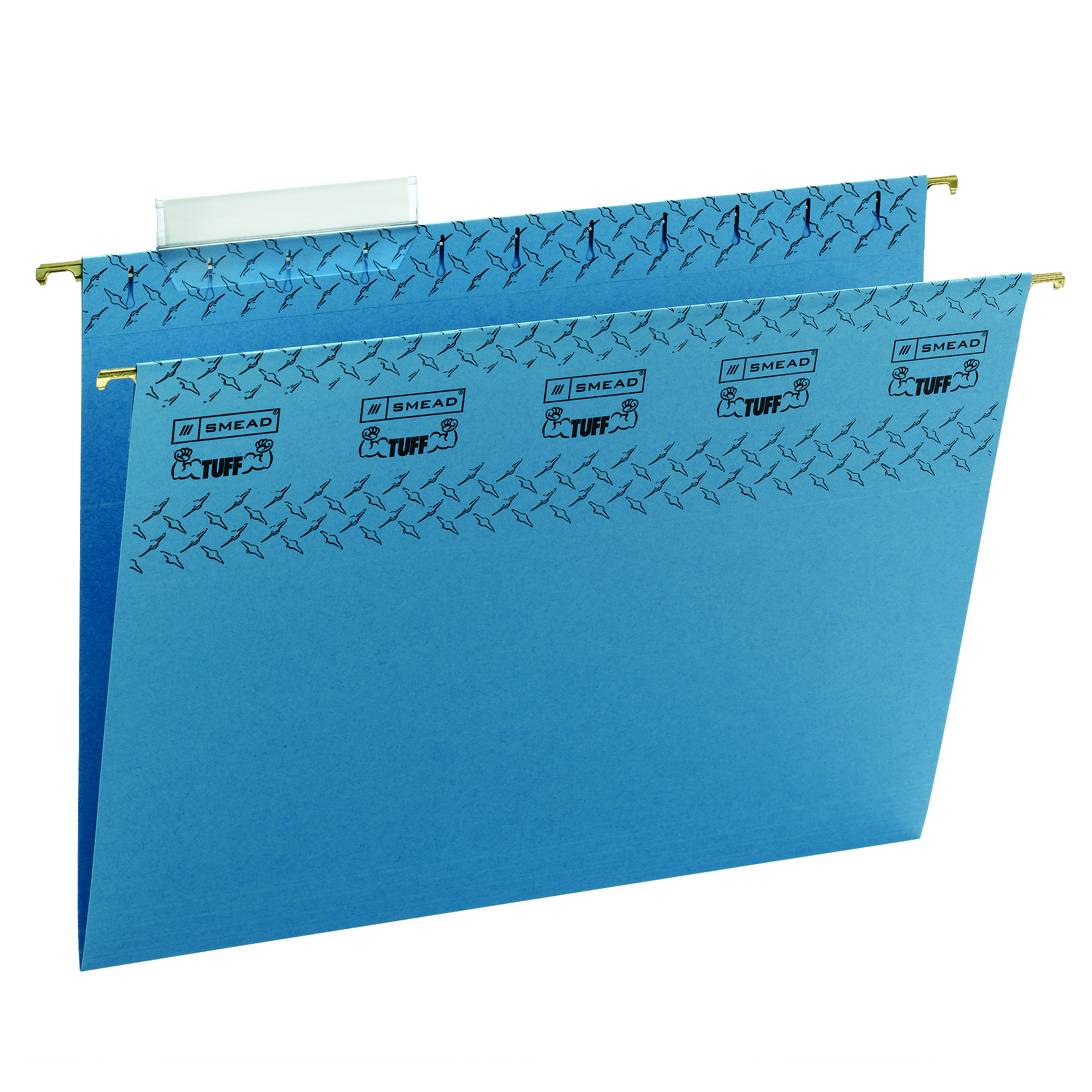 Smead® TUFF® Hanging File Folders With Easy Slide™ Tabs, Letter Size, Blue, Pack Of 18