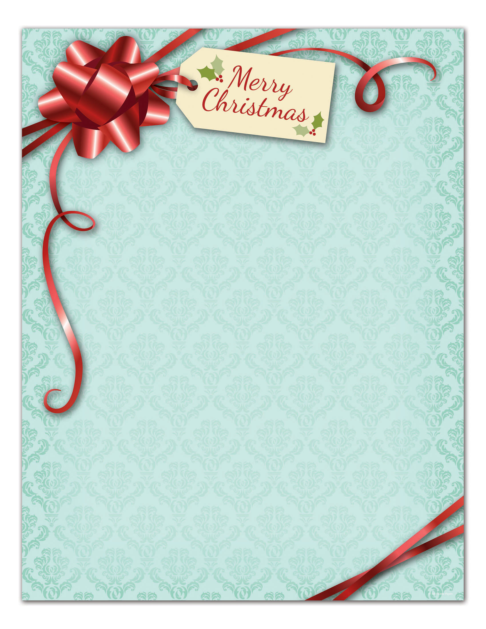"""Great Papers!® Holiday Stationery, 8 1/2"""" x 11"""", Peppermint Twist, Pack Of 80 Sheets"""