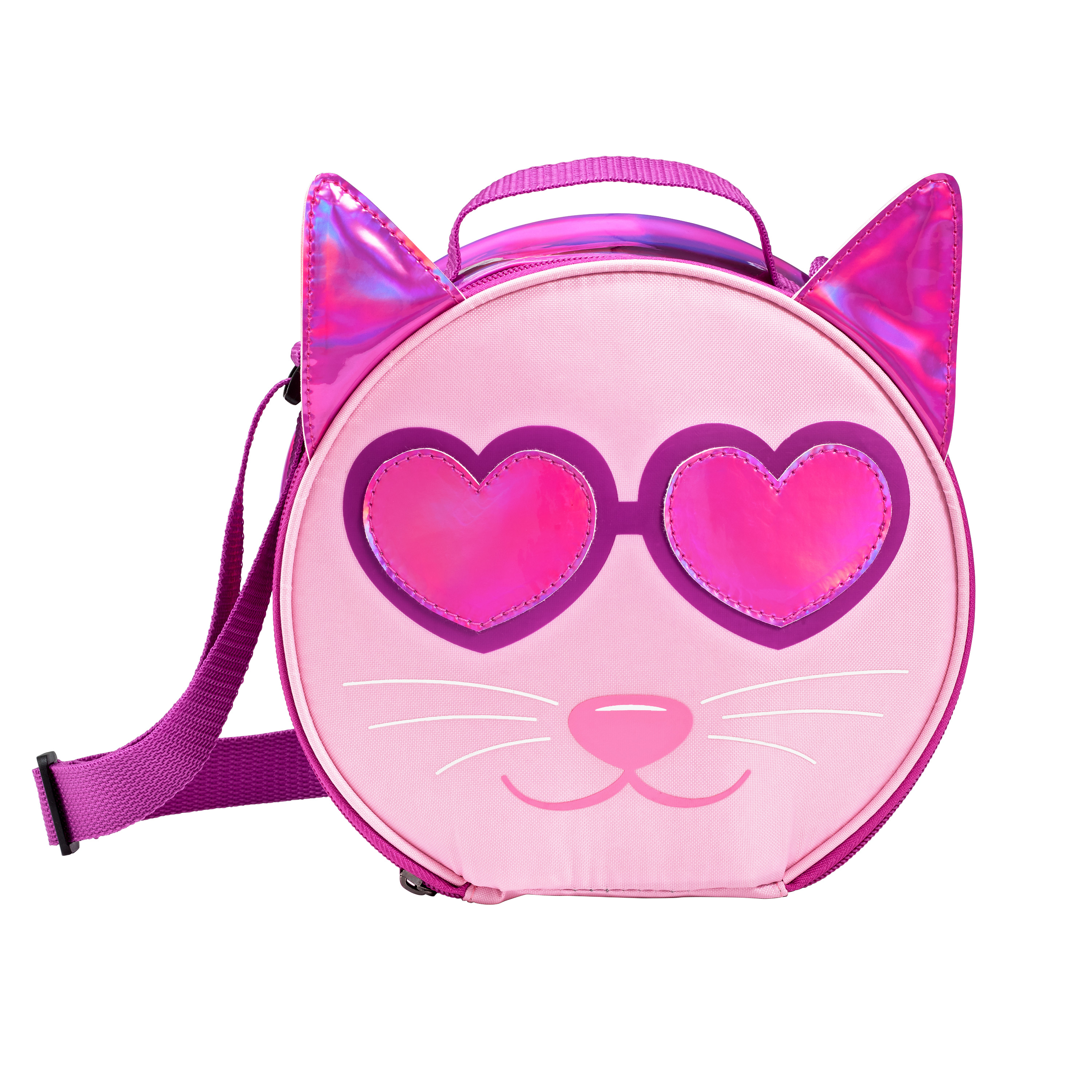 Fit & Fresh Camilla Cat Lunch Bag, Pink