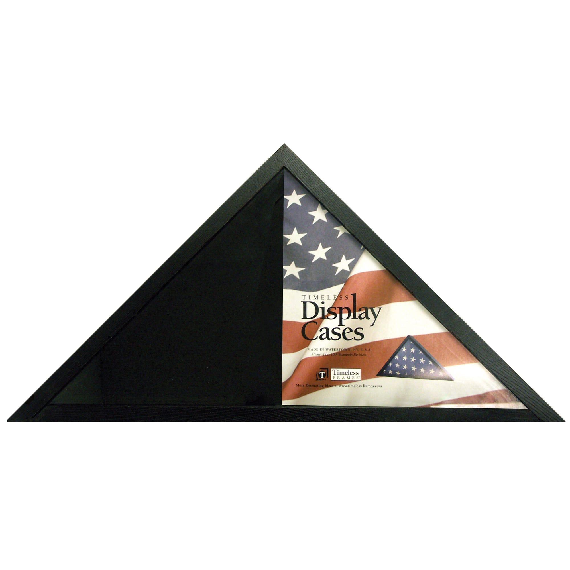 "Timeless Frames Flag Display Case, 9 3/4""H x 9 3/4""W x 13 1/2""D, Black"