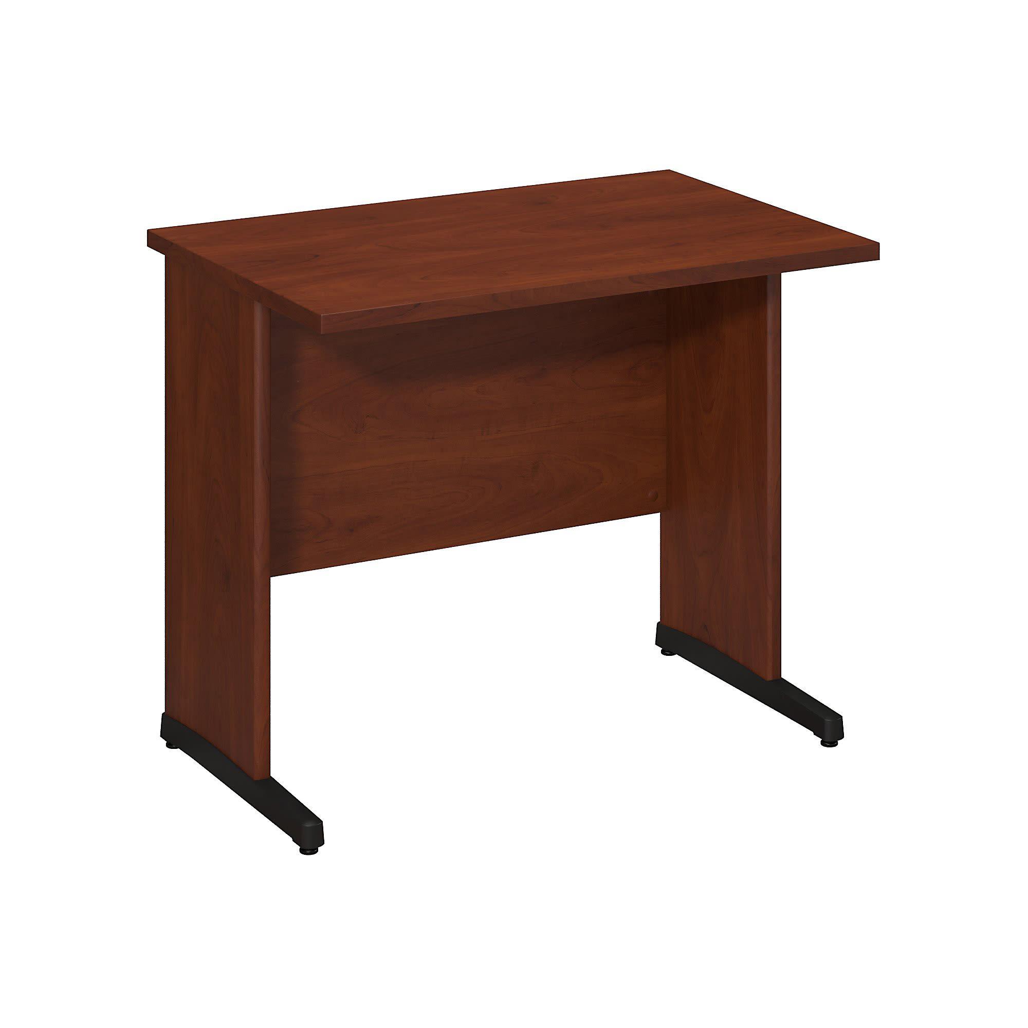 """Bush Business Furniture Components Elite C Leg Desk 36""""W x 24""""D, Hansen Cherry, Standard Delivery"""