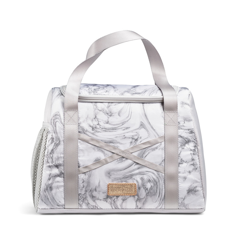 Fit & Fresh Kerri Athletic Lunch Bag, Gray Marble