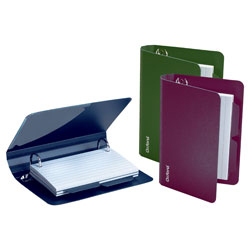 "Oxford® Poly Index Card Binder, 4 1/2""H x 6 1/2""W x 1 1/2""D, Assorted Colors (No Color Choice)"