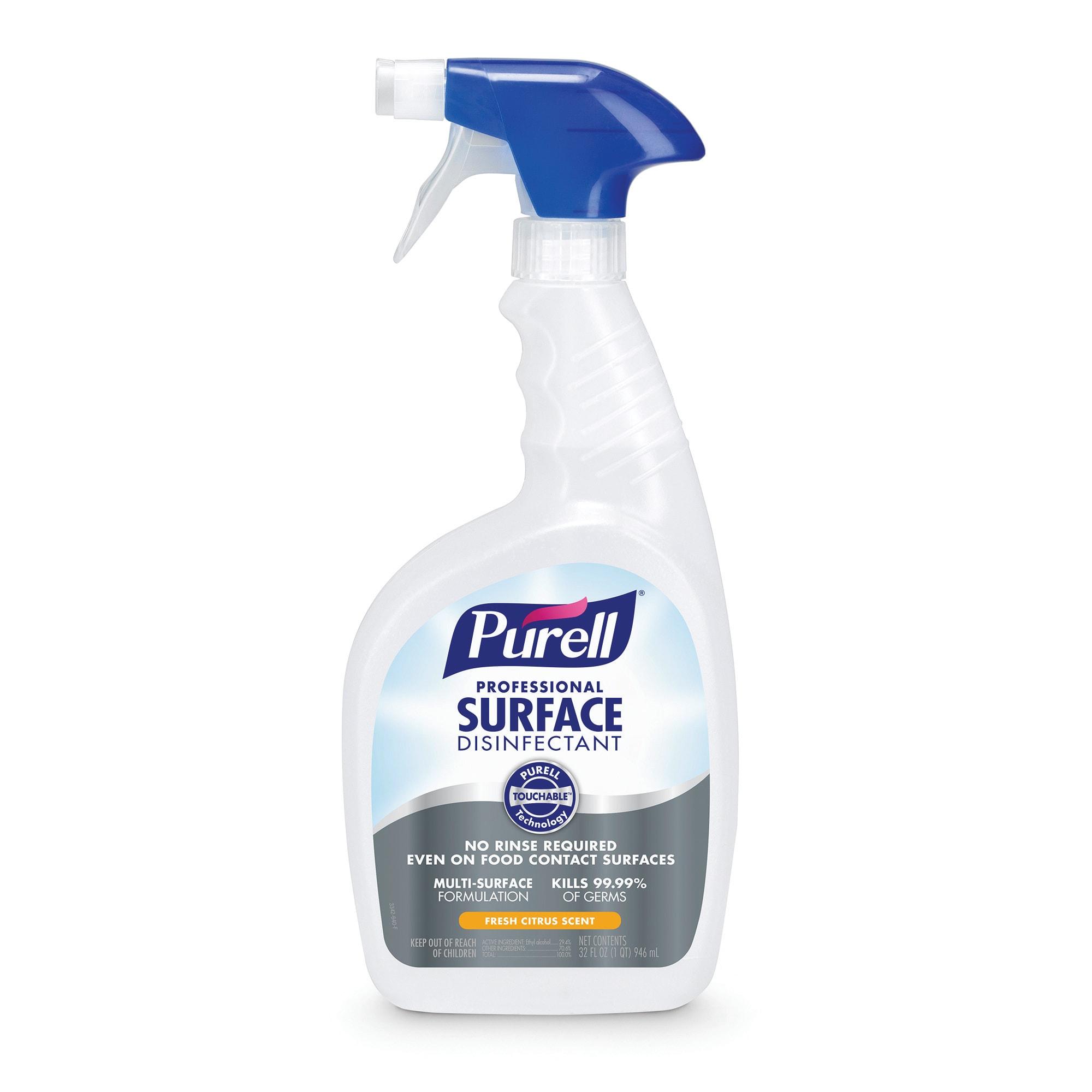 Purell® Professional Surface Disinfectant, Spray Bottle, Fresh Citrus, 32 Oz, Case Of 12