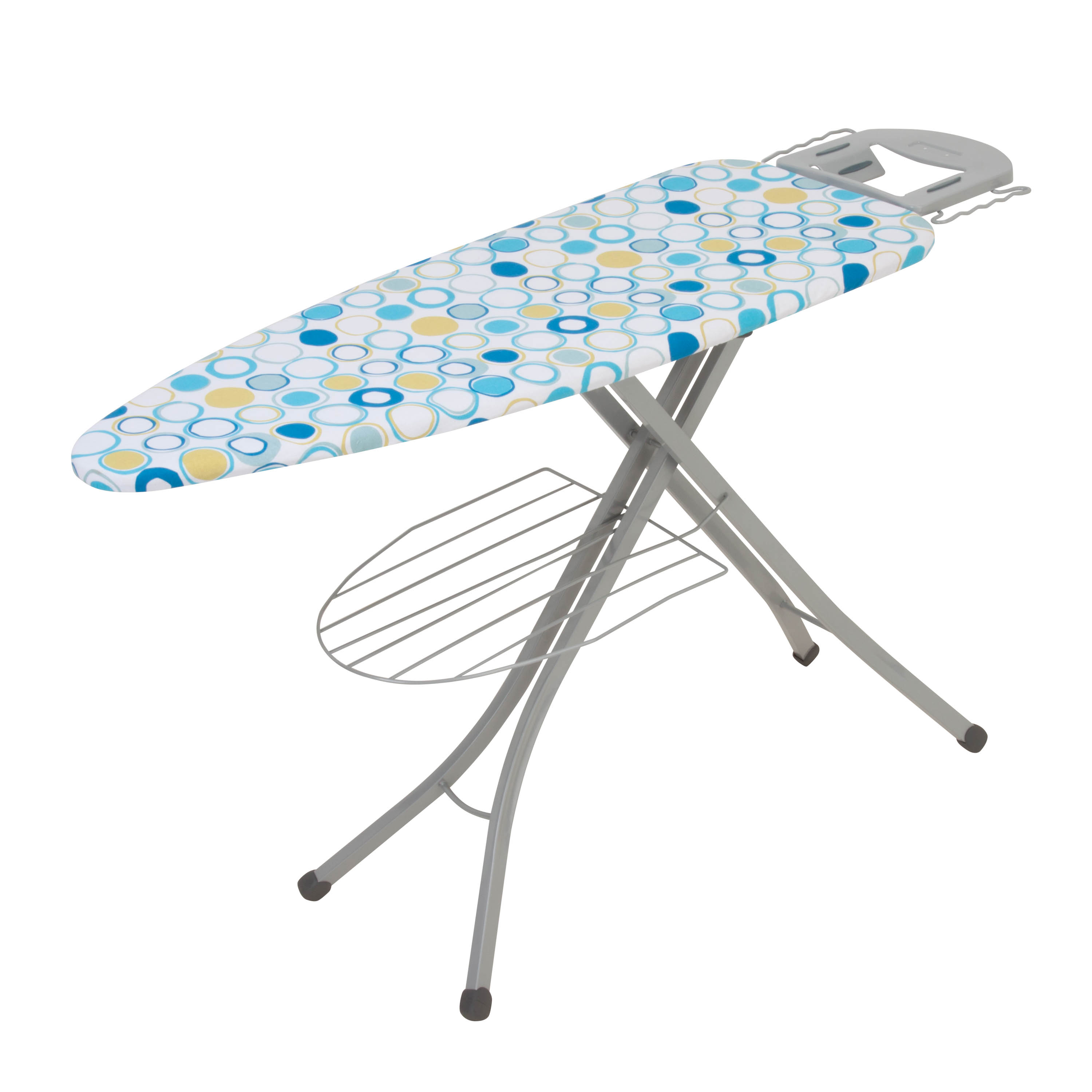 "Honey-Can-Do Ironing Board With Iron Rest And Shelf, 48""H x 18""W x 18""D"