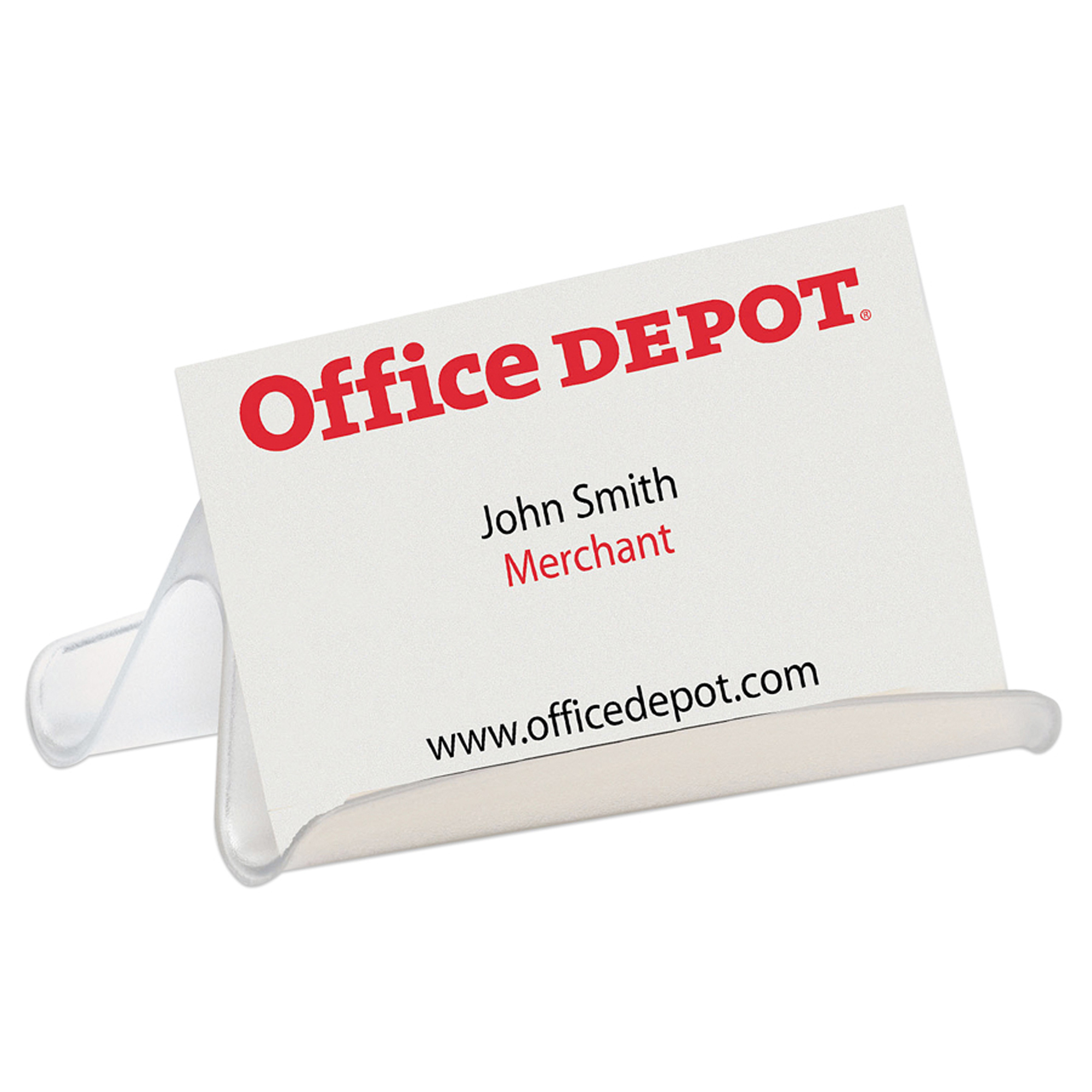 Office Depot® Brand Business Card Holder, Clear